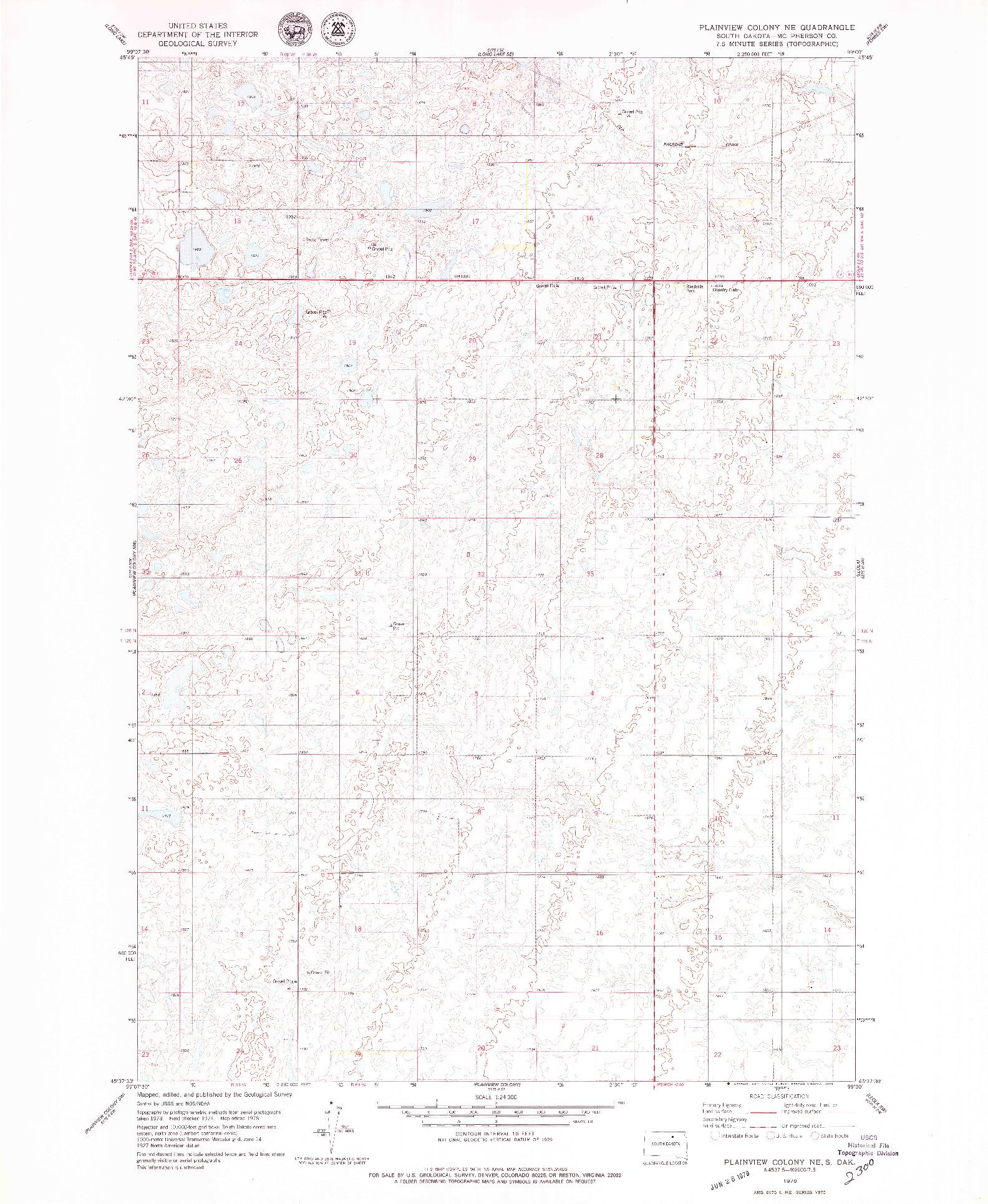 USGS 1:24000-SCALE QUADRANGLE FOR PLAINVIEW COLONY NE, SD 1978