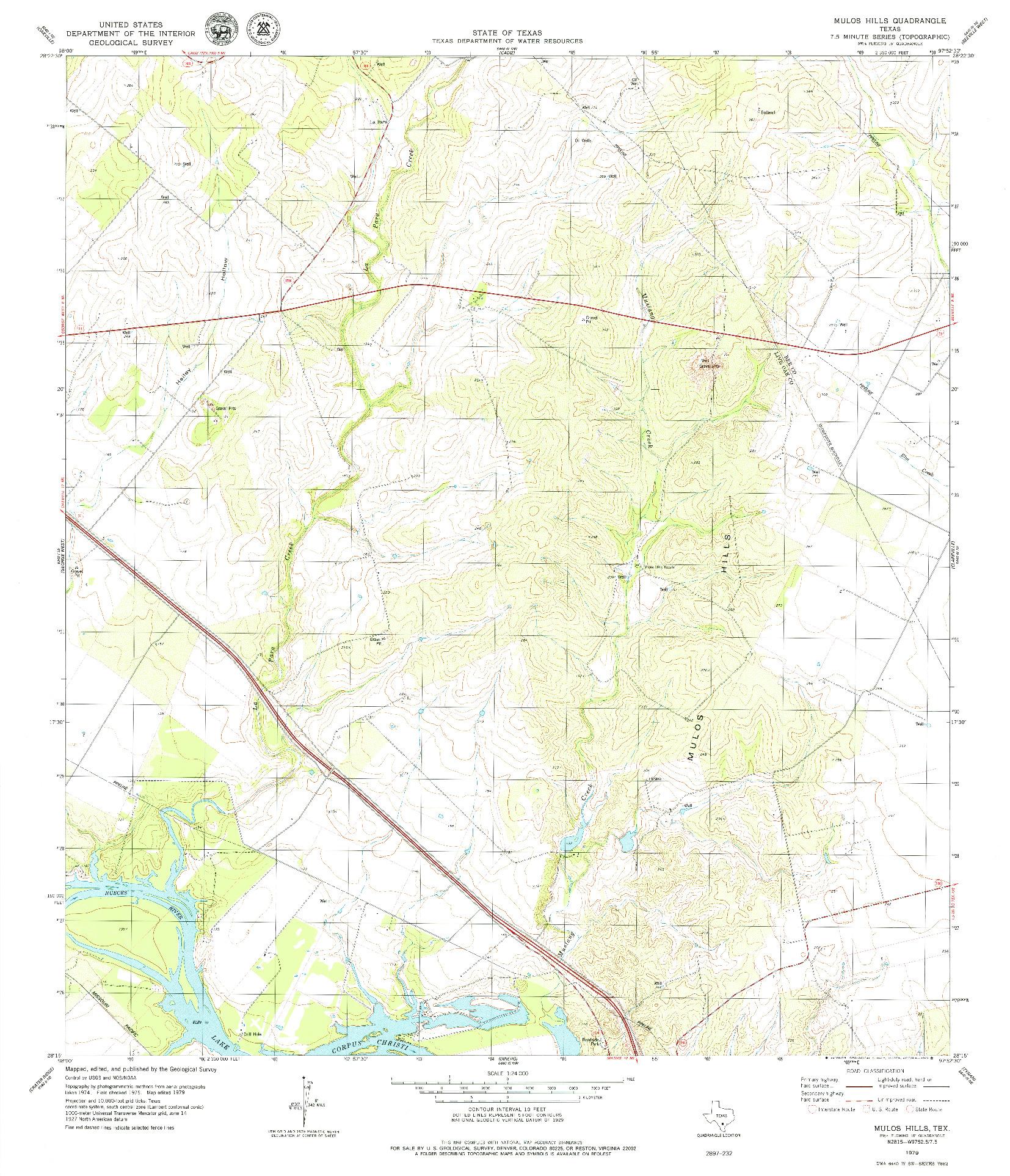 USGS 1:24000-SCALE QUADRANGLE FOR MULOS HILLS, TX 1979