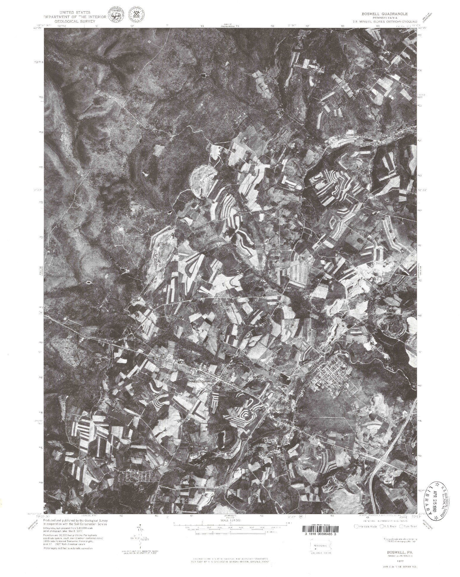 USGS 1:24000-SCALE QUADRANGLE FOR BOSWELL, PA 1977