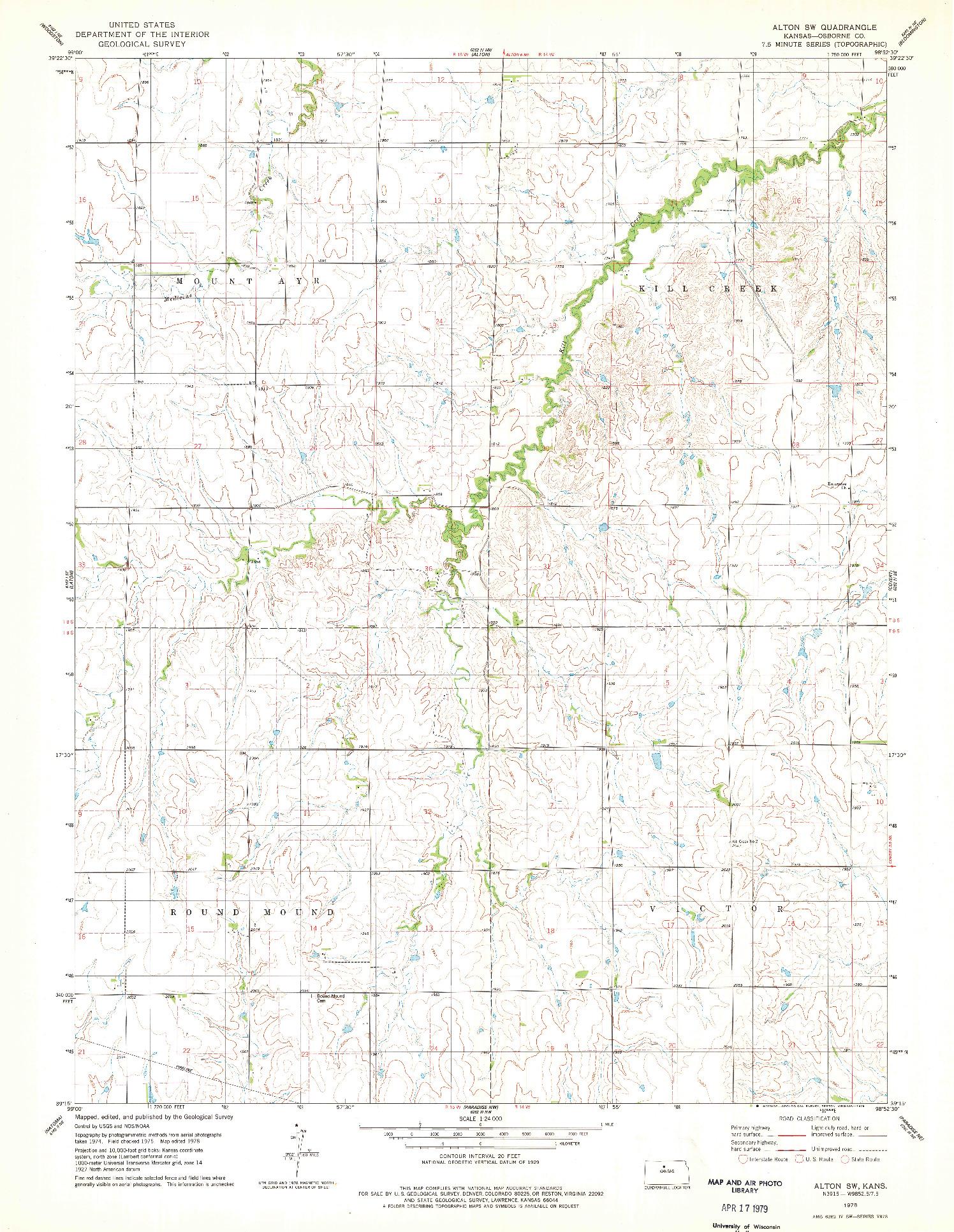 USGS 1:24000-SCALE QUADRANGLE FOR ALTON SW, KS 1978