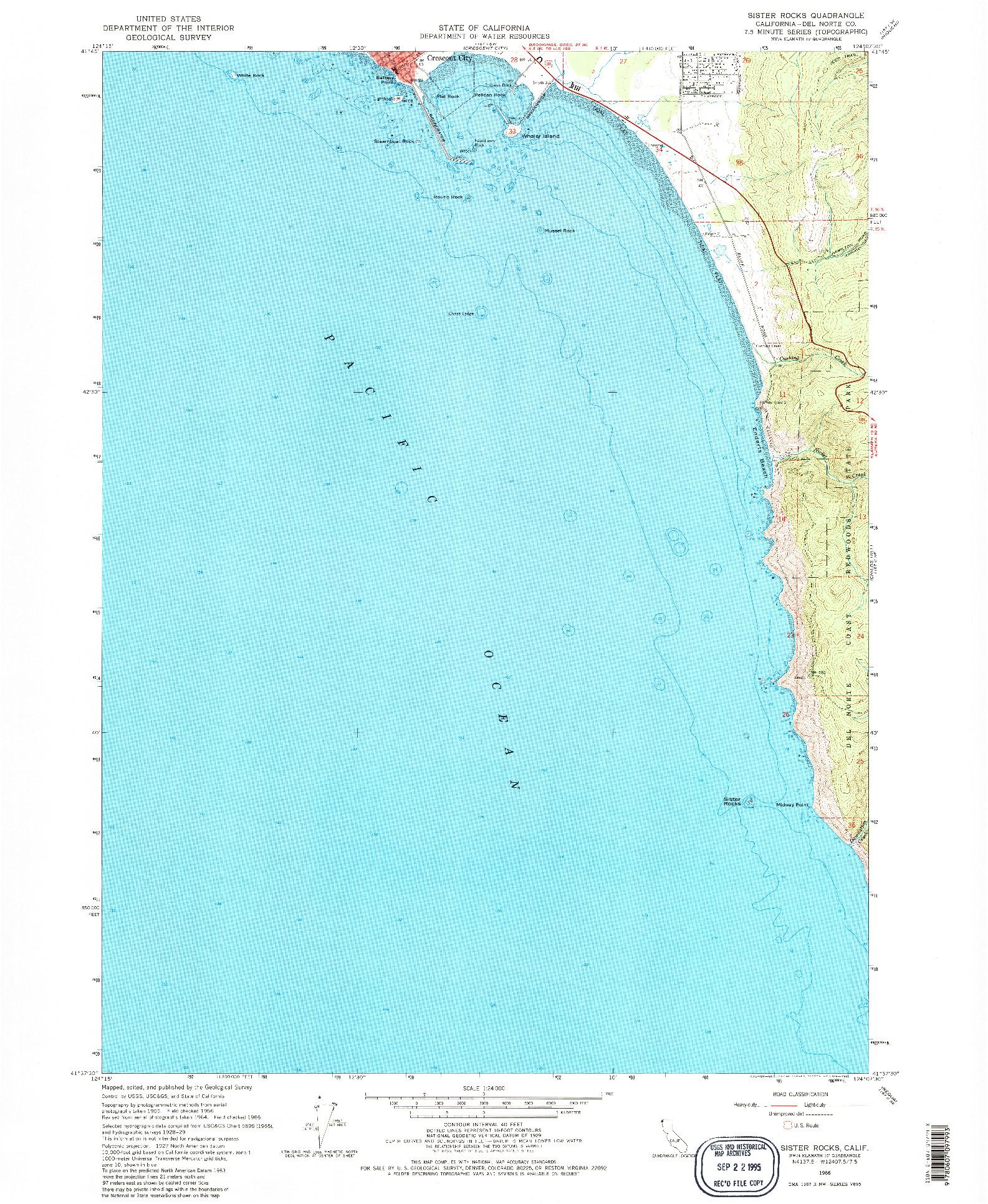 USGS 1:24000-SCALE QUADRANGLE FOR SISTER ROCKS, CA 1966