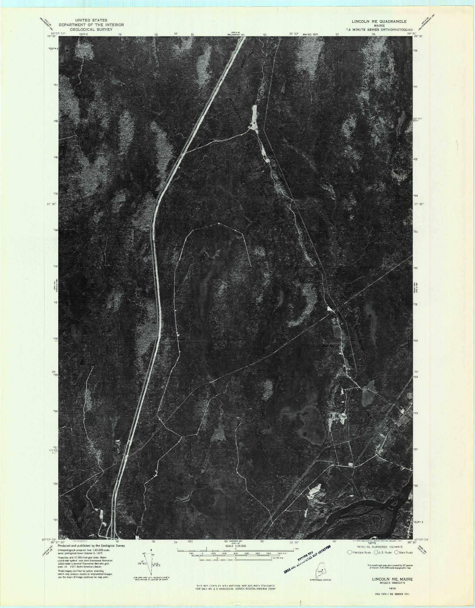 USGS 1:24000-SCALE QUADRANGLE FOR LINCOLN NE, ME 1975
