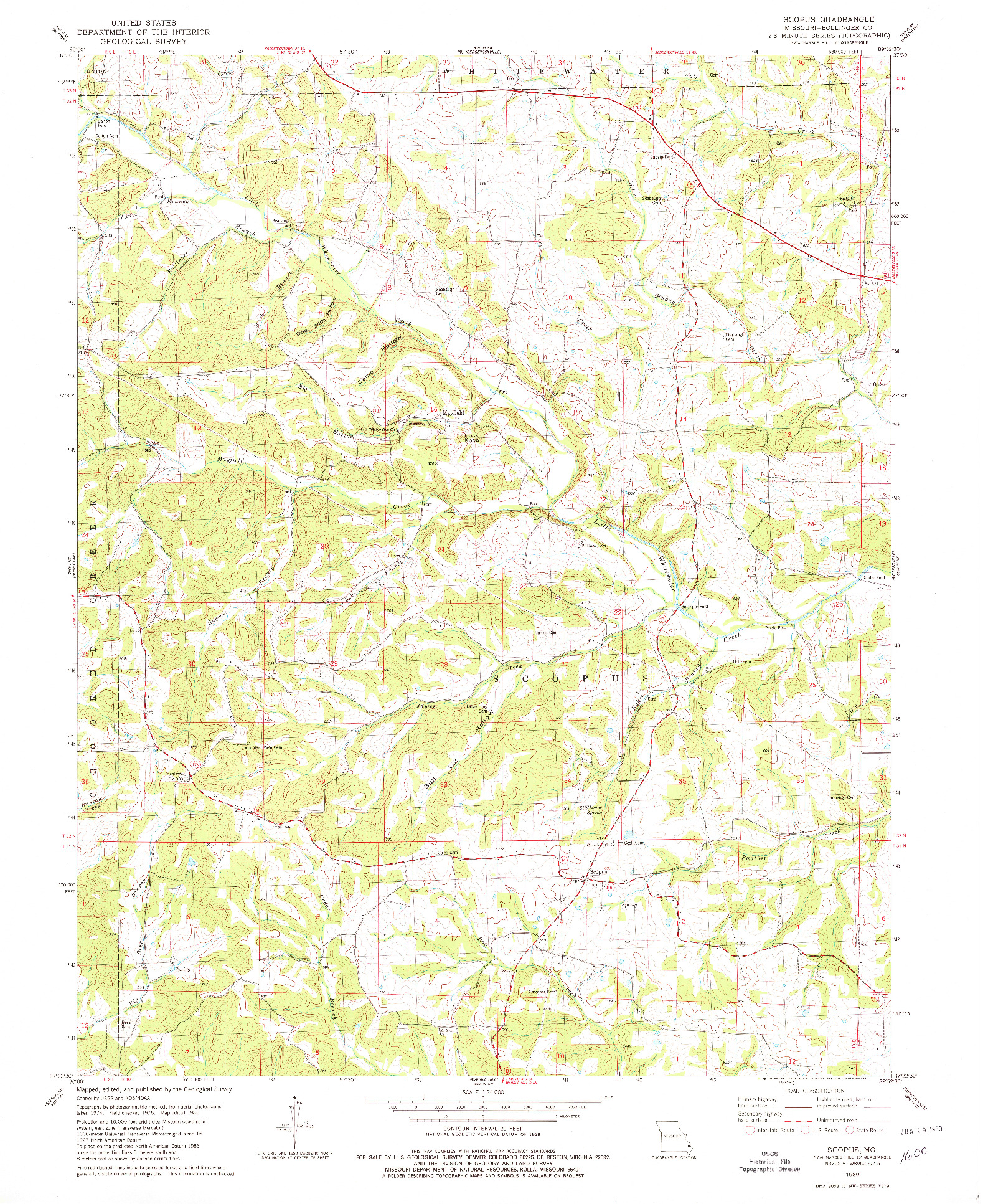 USGS 1:24000-SCALE QUADRANGLE FOR SCOPUS, MO 1980