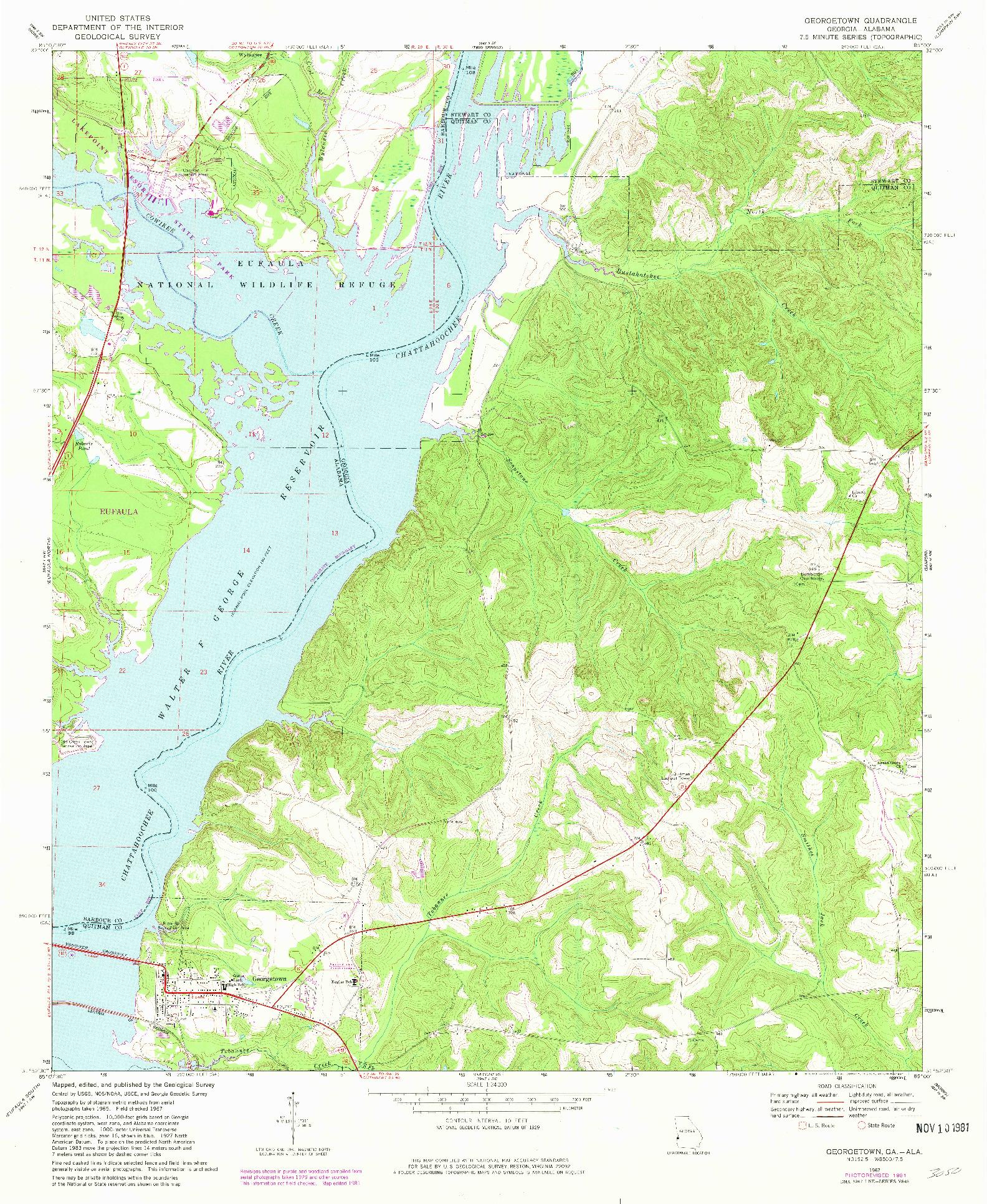 USGS 1:24000-SCALE QUADRANGLE FOR GEORGETOWN, GA 1967