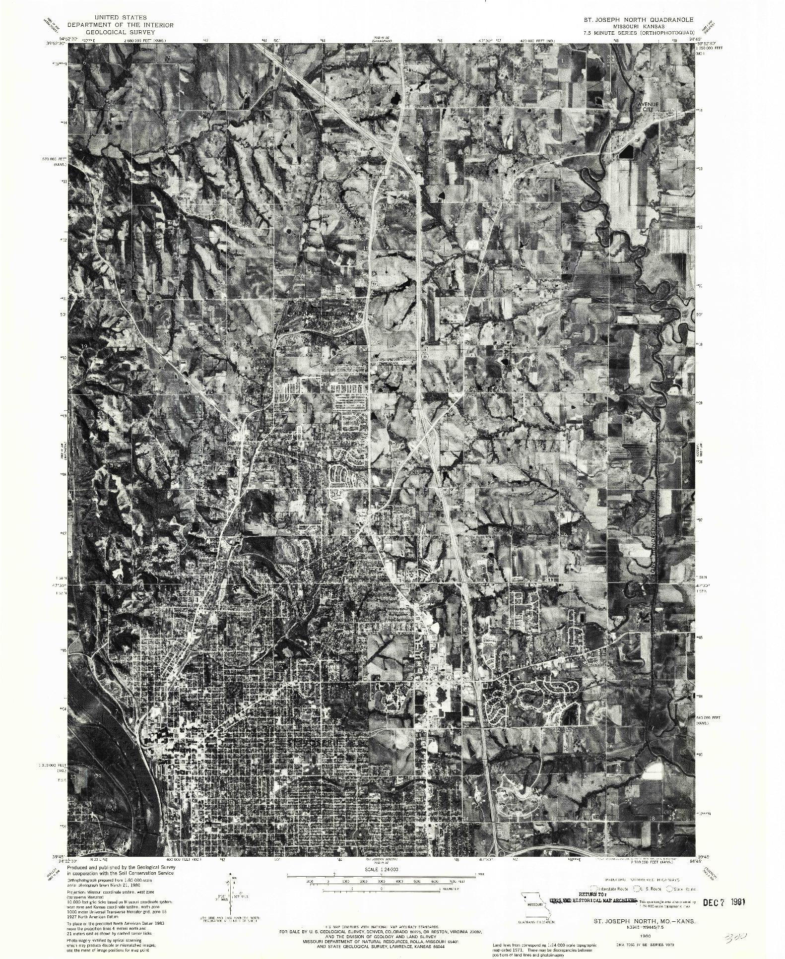USGS 1:24000-SCALE QUADRANGLE FOR ST. JOSEPH NORTH, MO 1980