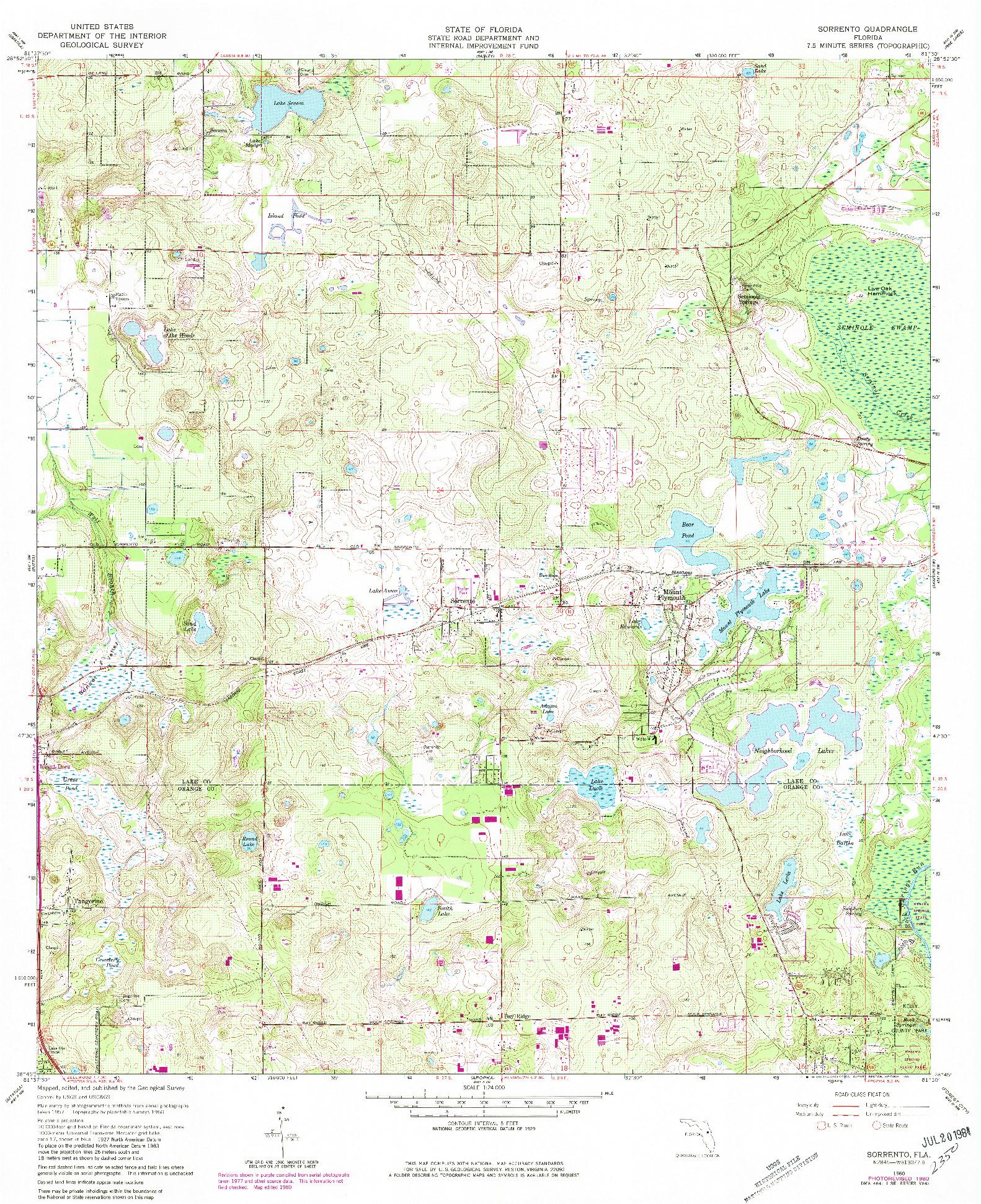 USGS 1:24000-SCALE QUADRANGLE FOR SORRENTO, FL 1960