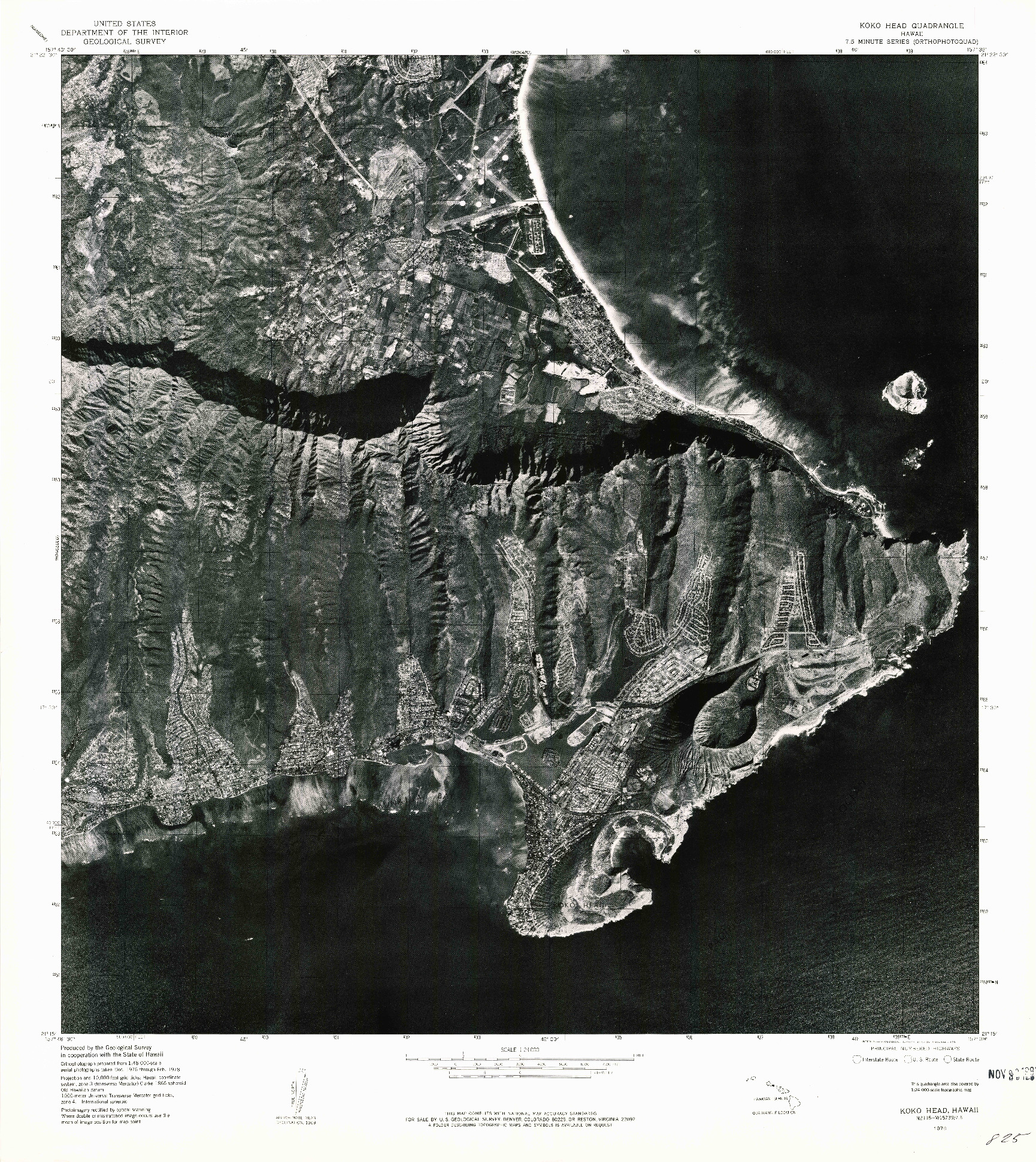 USGS 1:24000-SCALE QUADRANGLE FOR KOKO HEAD, HI 1978