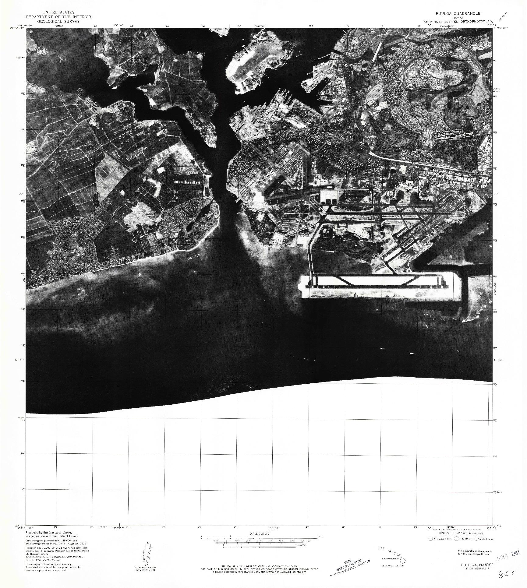 USGS 1:24000-SCALE QUADRANGLE FOR PUULOA, HI 1981