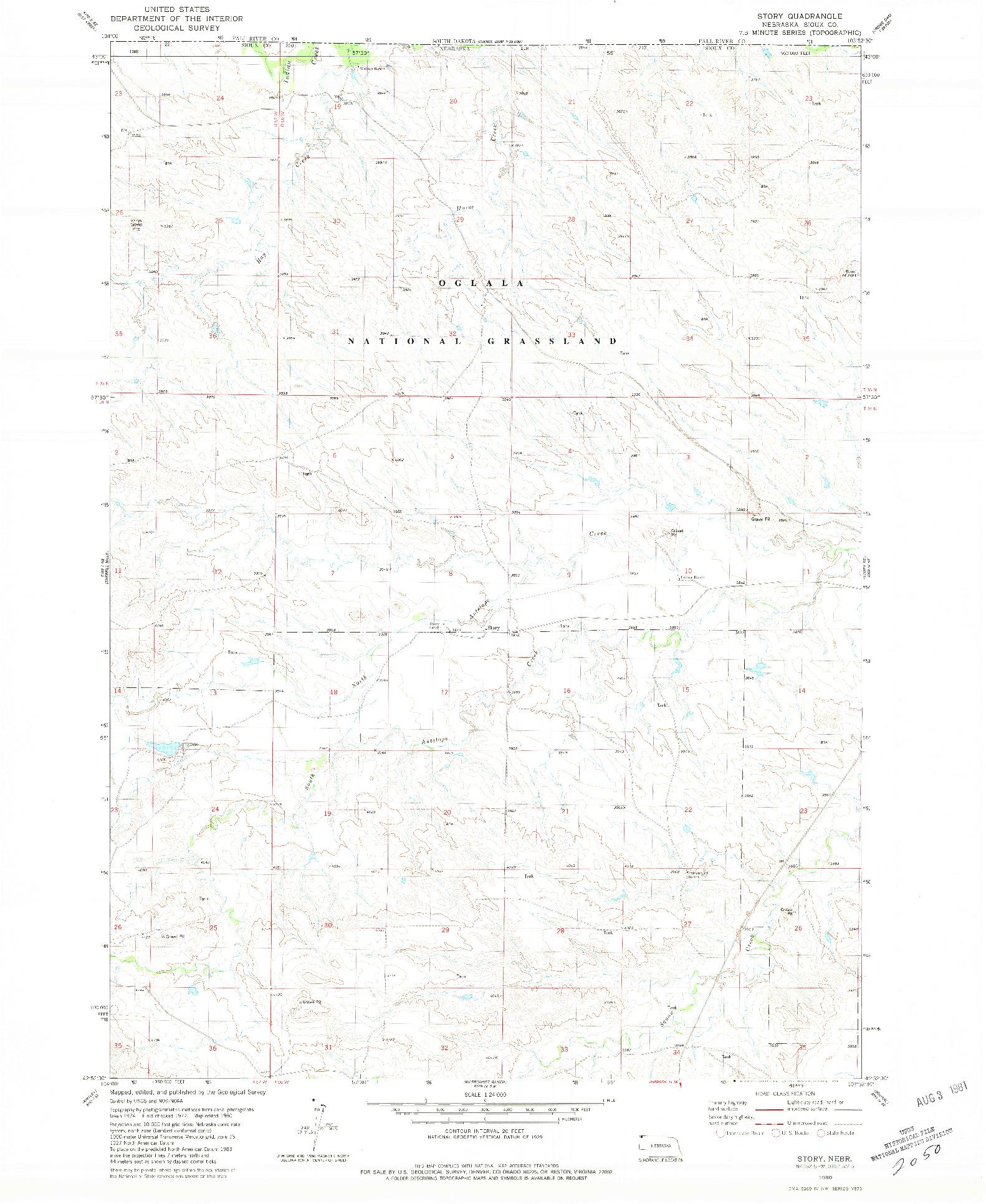 USGS 1:24000-SCALE QUADRANGLE FOR STORY, NE 1980