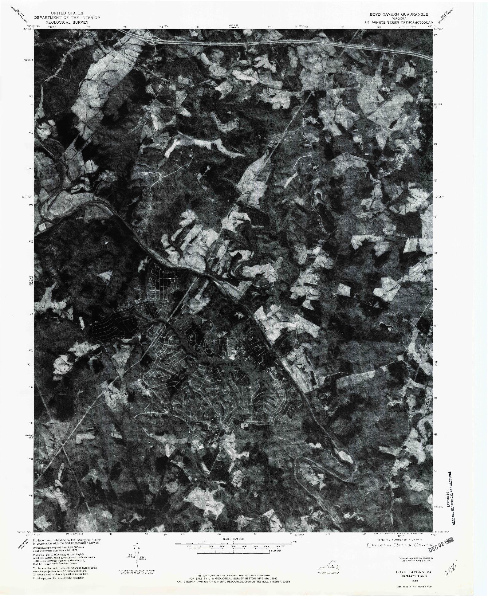 USGS 1:24000-SCALE QUADRANGLE FOR BOYD TAVERN, VA 1979