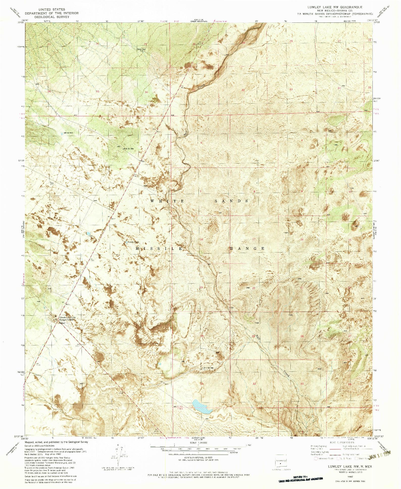 USGS 1:24000-SCALE QUADRANGLE FOR LUMLEY LAKE NW, NM 1982