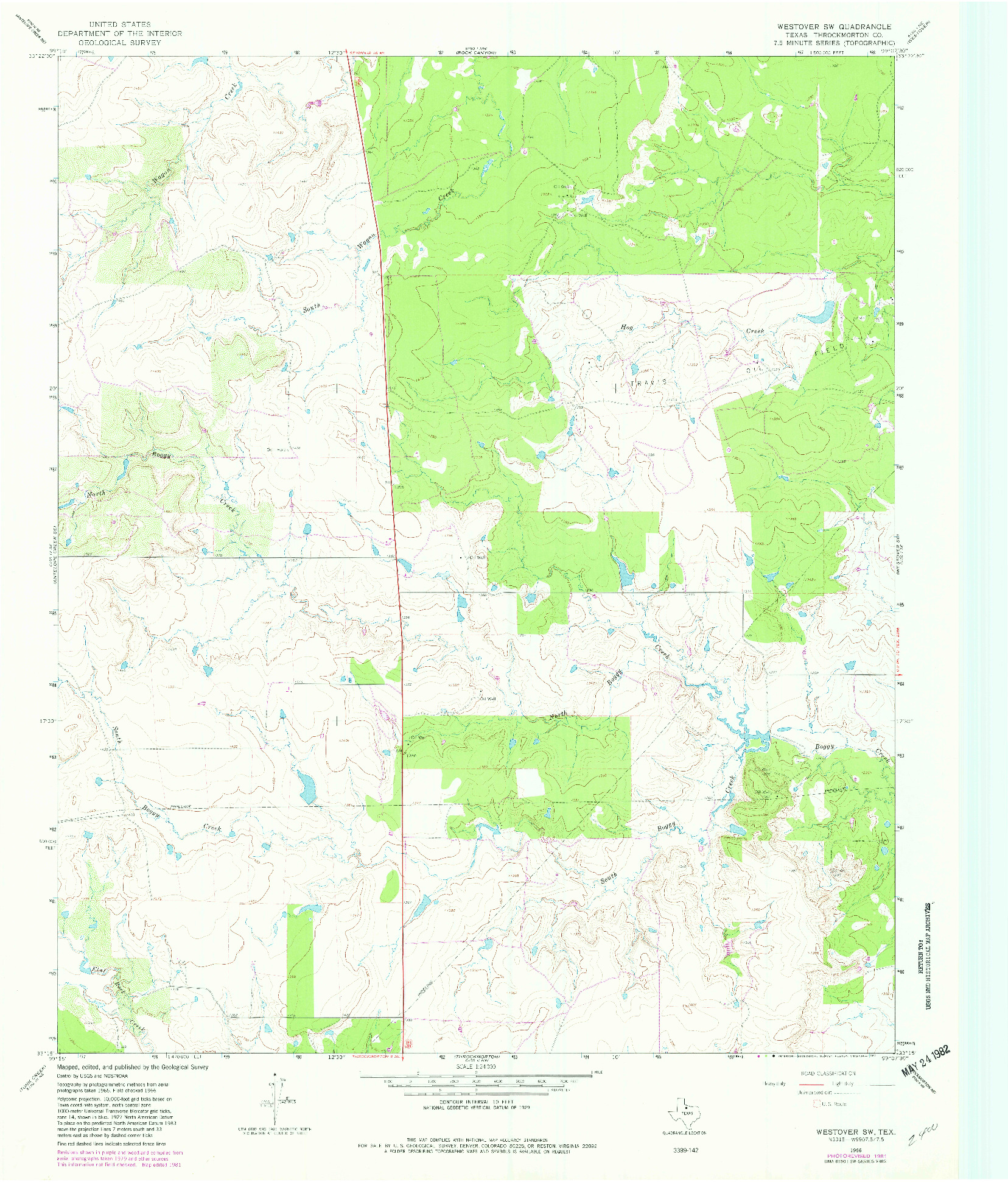 USGS 1:24000-SCALE QUADRANGLE FOR WESTOVER SW, TX 1966