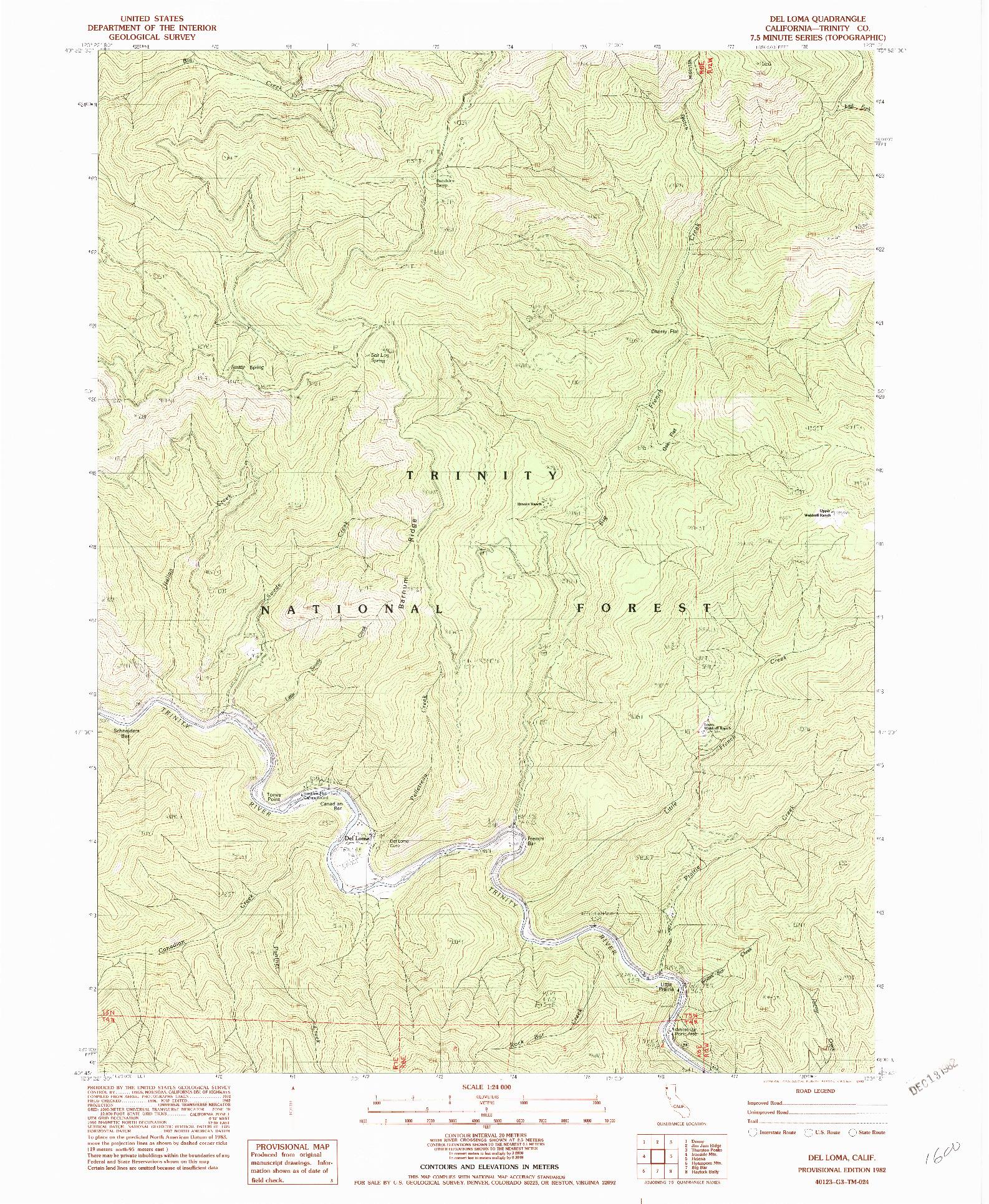 USGS 1:24000-SCALE QUADRANGLE FOR DEL LOMA, CA 1982