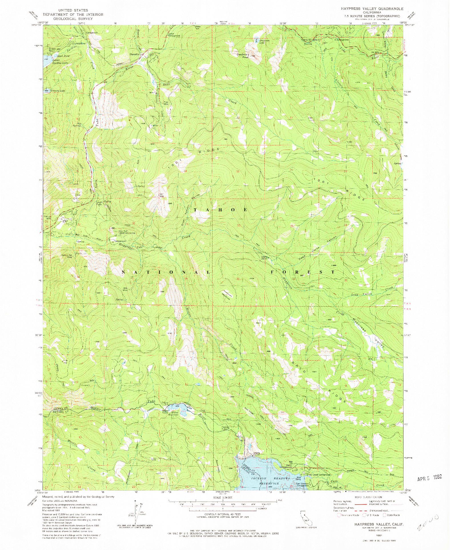 USGS 1:24000-SCALE QUADRANGLE FOR HAYPRESS VALLEY, CA 1981