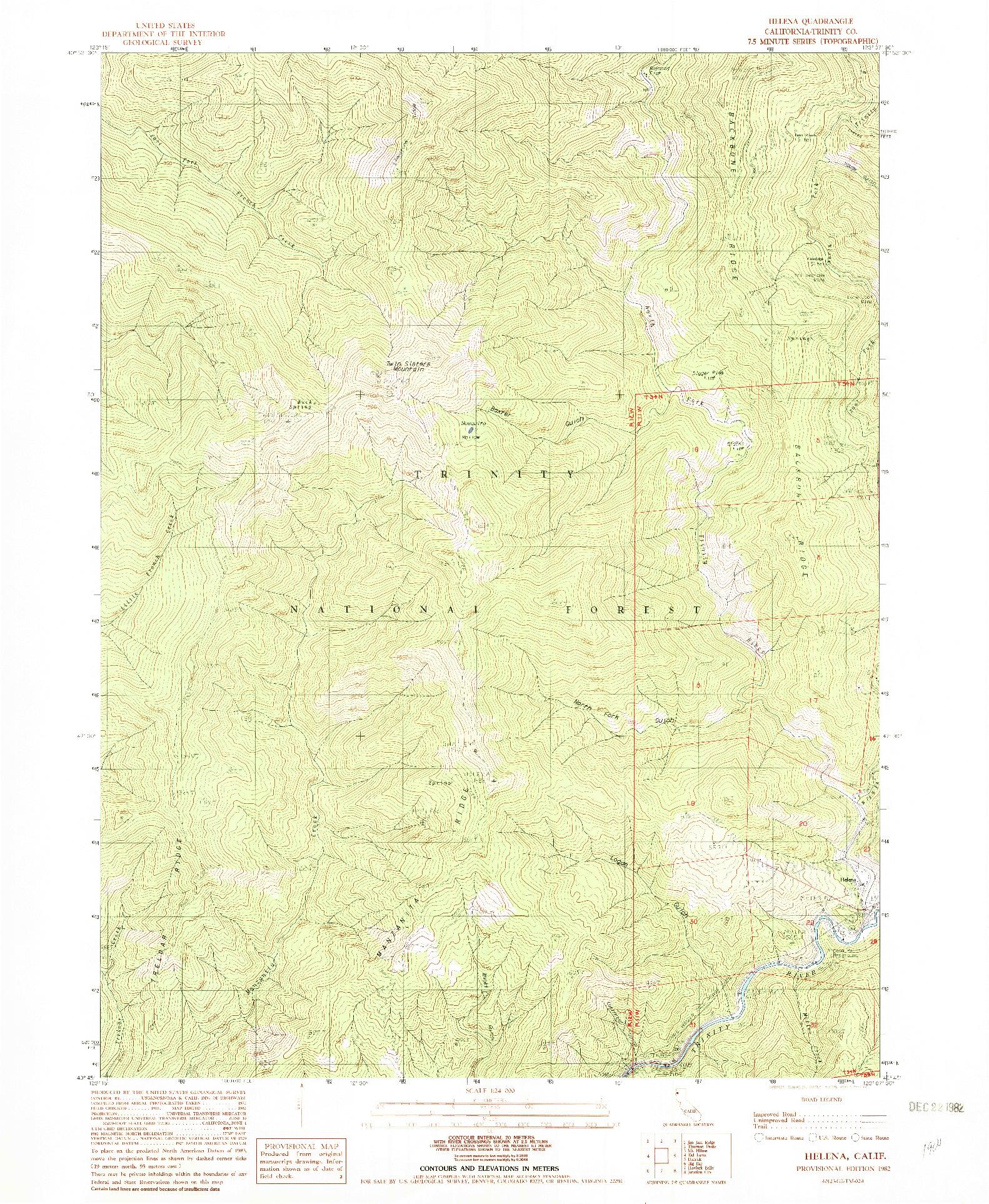 USGS 1:24000-SCALE QUADRANGLE FOR HELENA, CA 1982