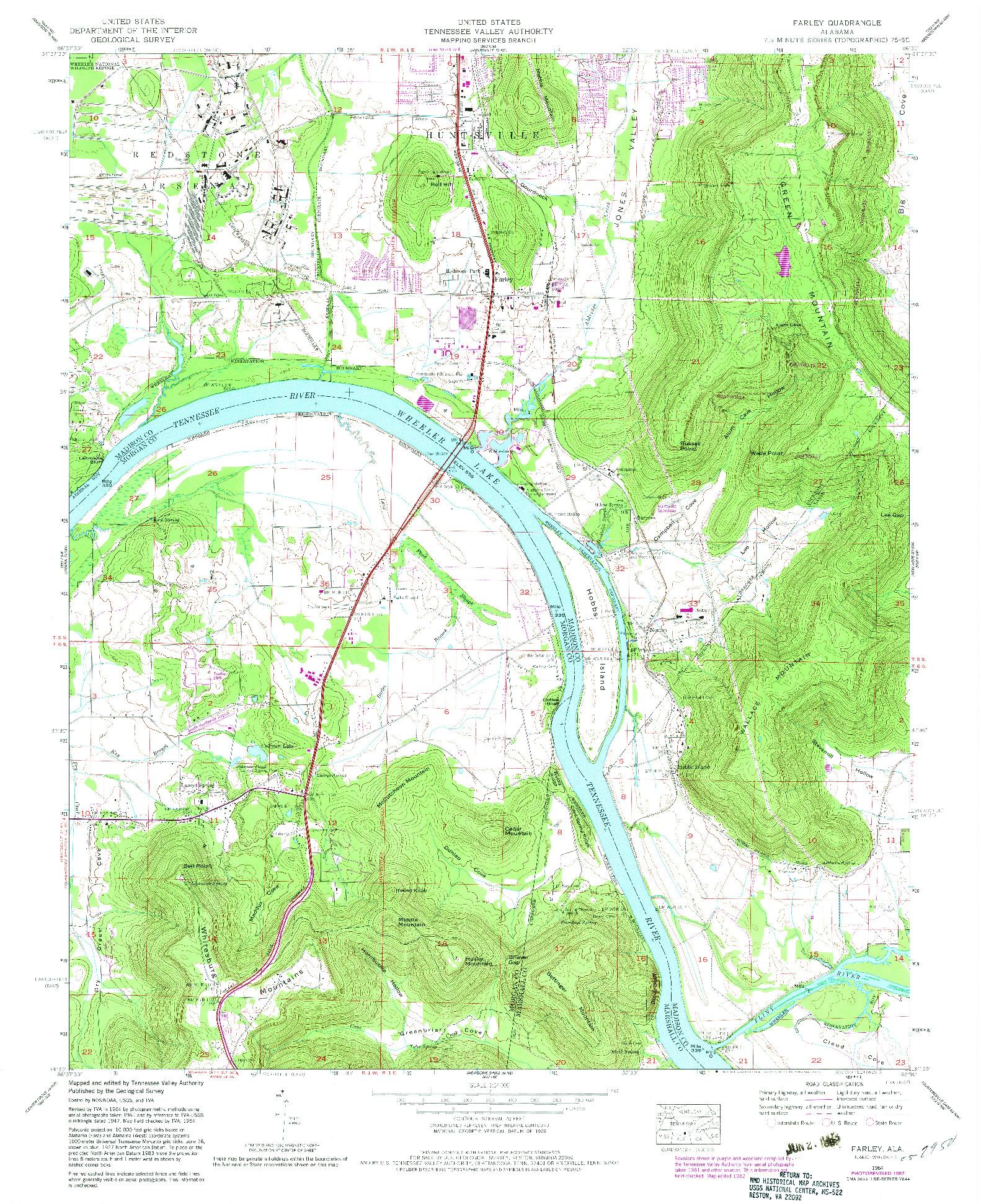 USGS 1:24000-SCALE QUADRANGLE FOR FARLEY, AL 1964