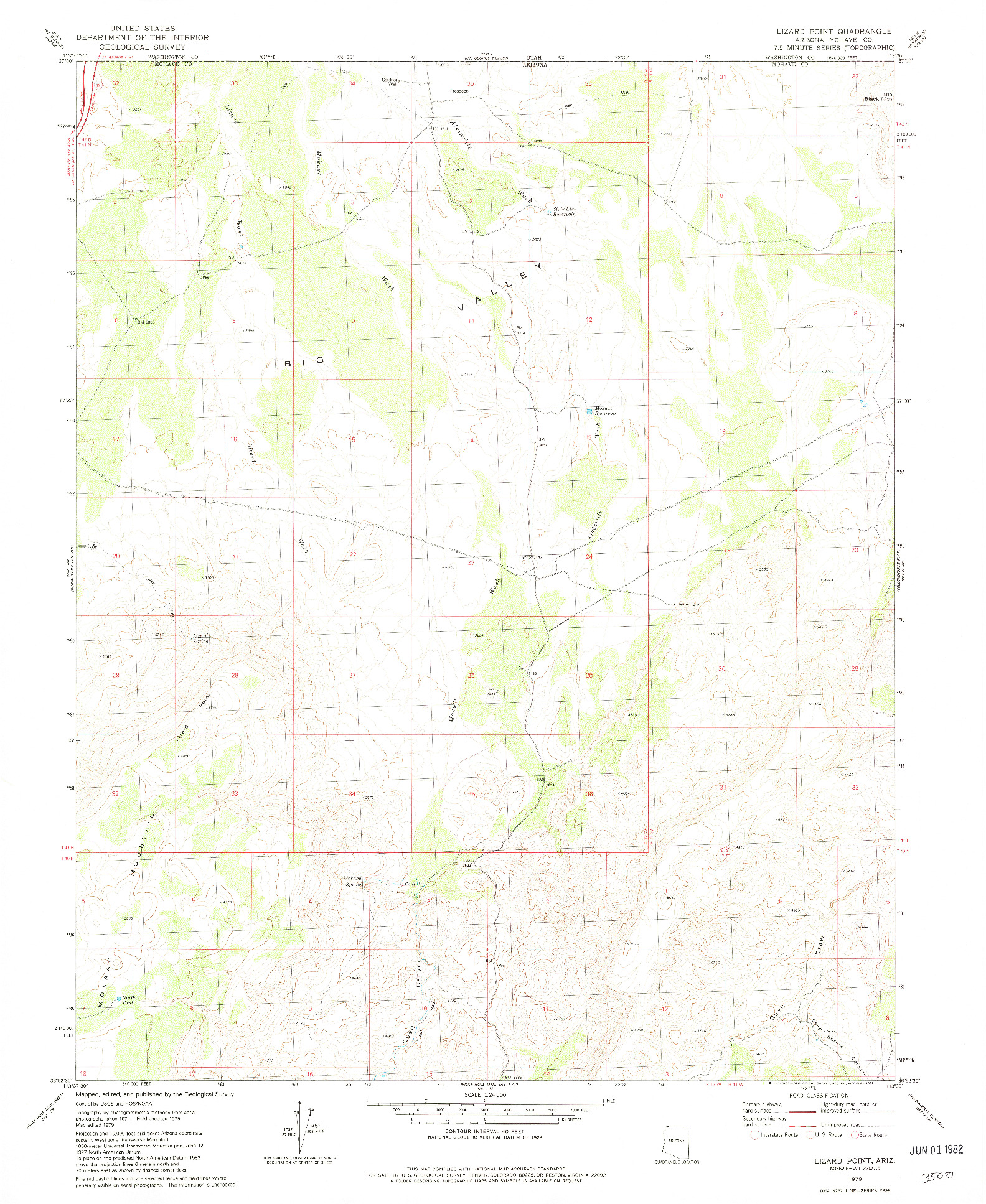 USGS 1:24000-SCALE QUADRANGLE FOR LIZARD POINT, AZ 1979
