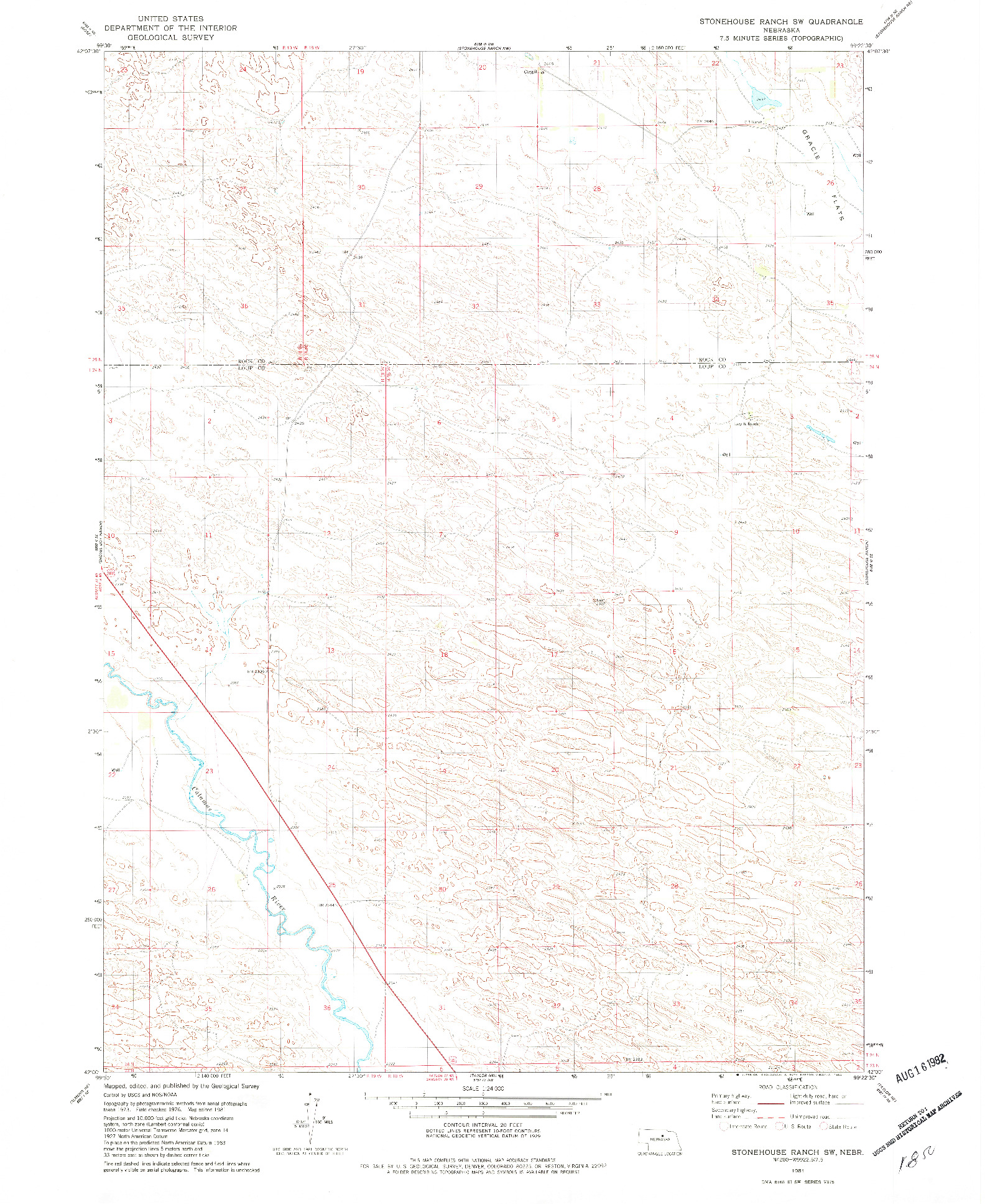 USGS 1:24000-SCALE QUADRANGLE FOR STONEHOUSE RANCH SW, NE 1981