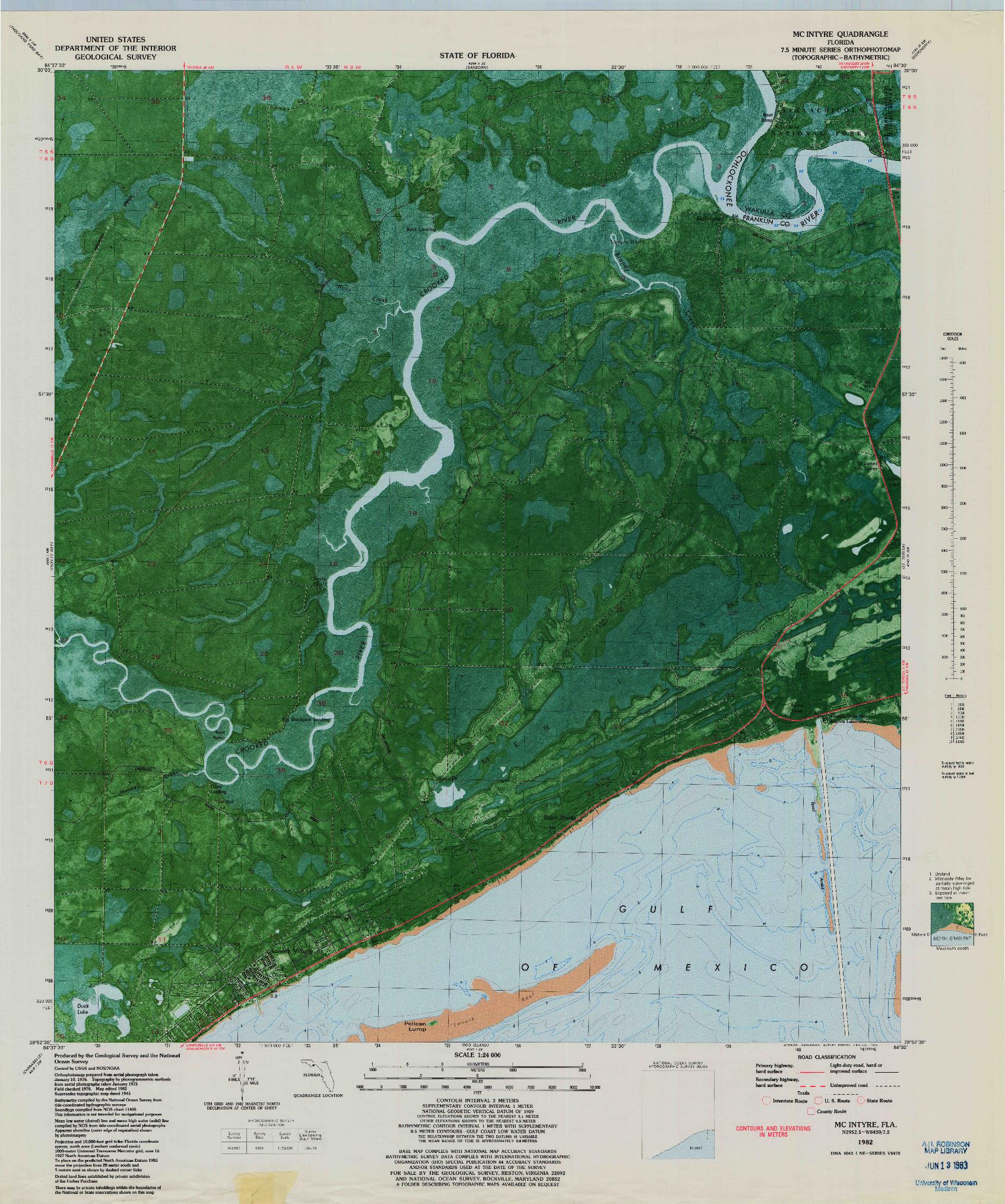 USGS 1:24000-SCALE QUADRANGLE FOR MC INTYRE, FL 1982