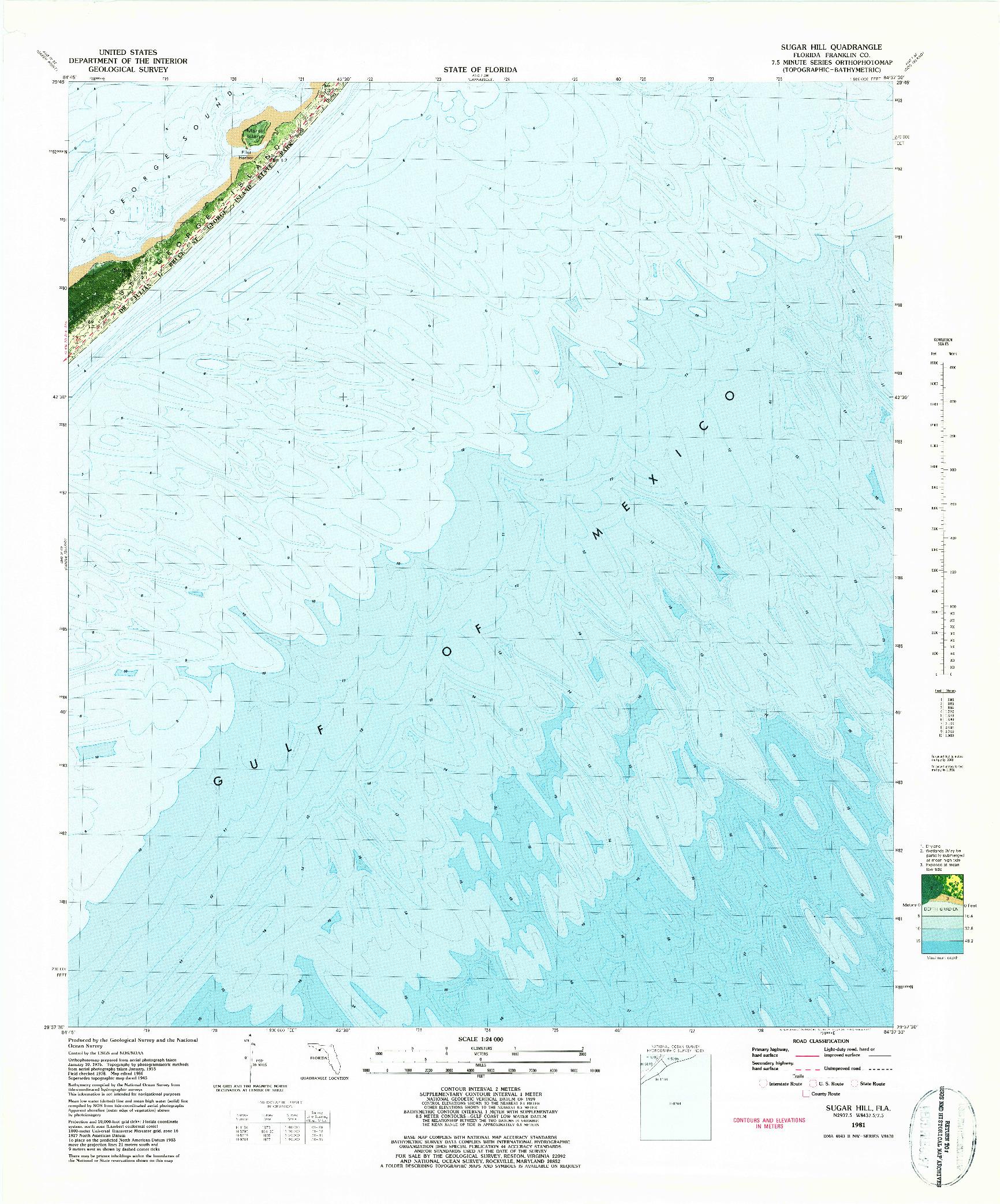 USGS 1:24000-SCALE QUADRANGLE FOR SUGAR HILL, FL 1981
