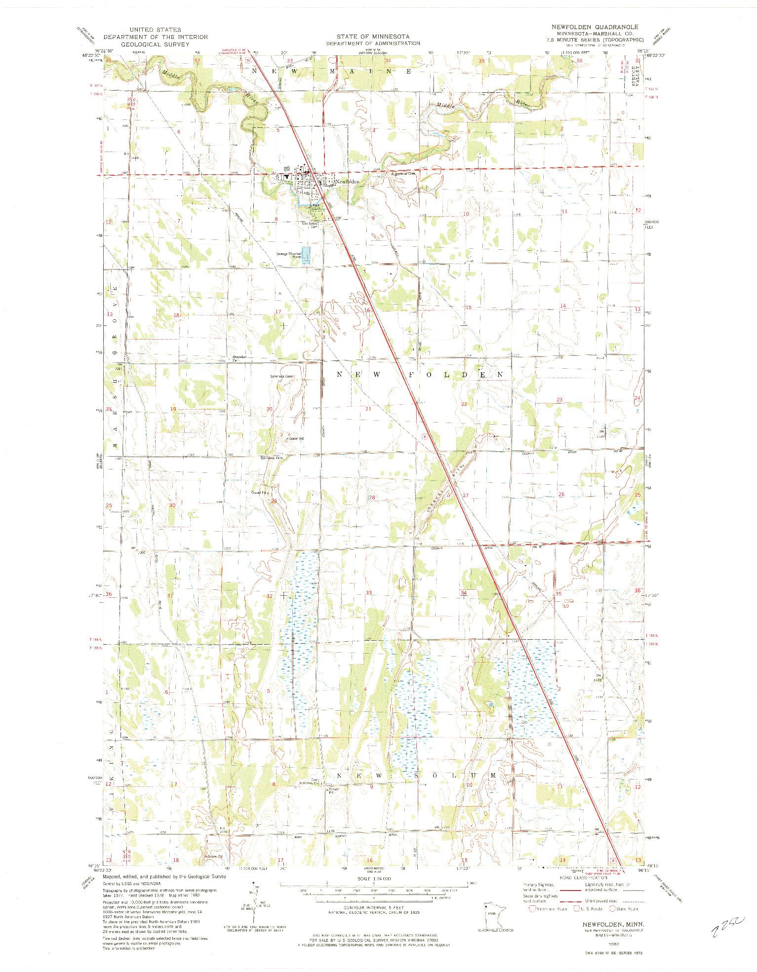 USGS 1:24000-SCALE QUADRANGLE FOR NEWFOLDEN, MN 1982