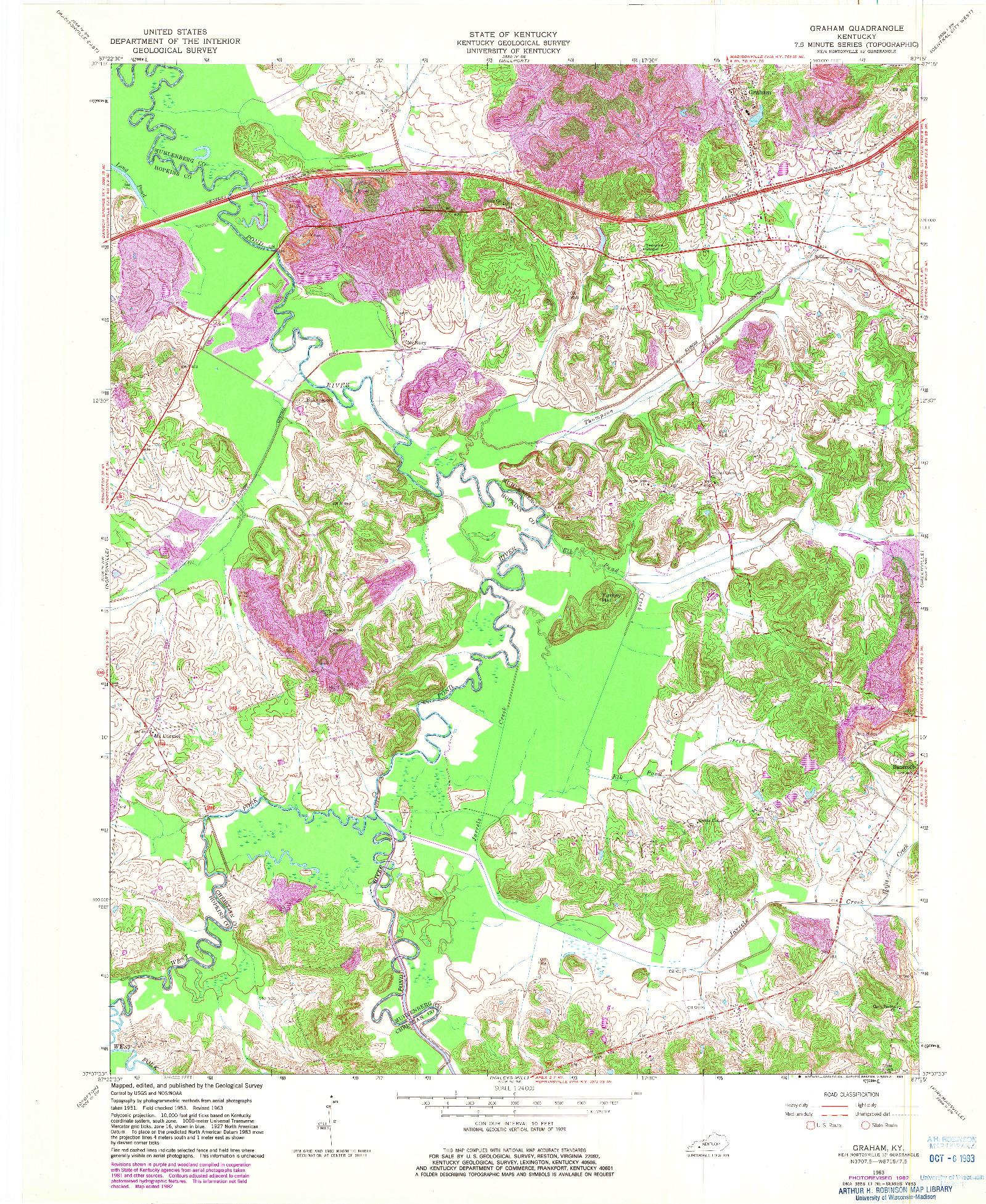 USGS 1:24000-SCALE QUADRANGLE FOR GRAHAM, KY 1963