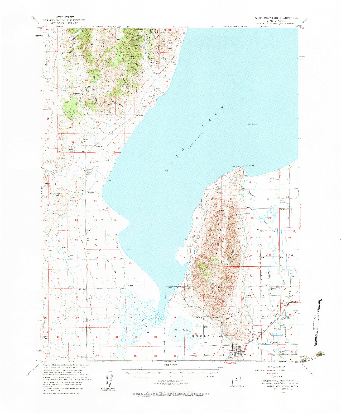USGS 1:62500-SCALE QUADRANGLE FOR WEST MOUNTAIN, UT 1950