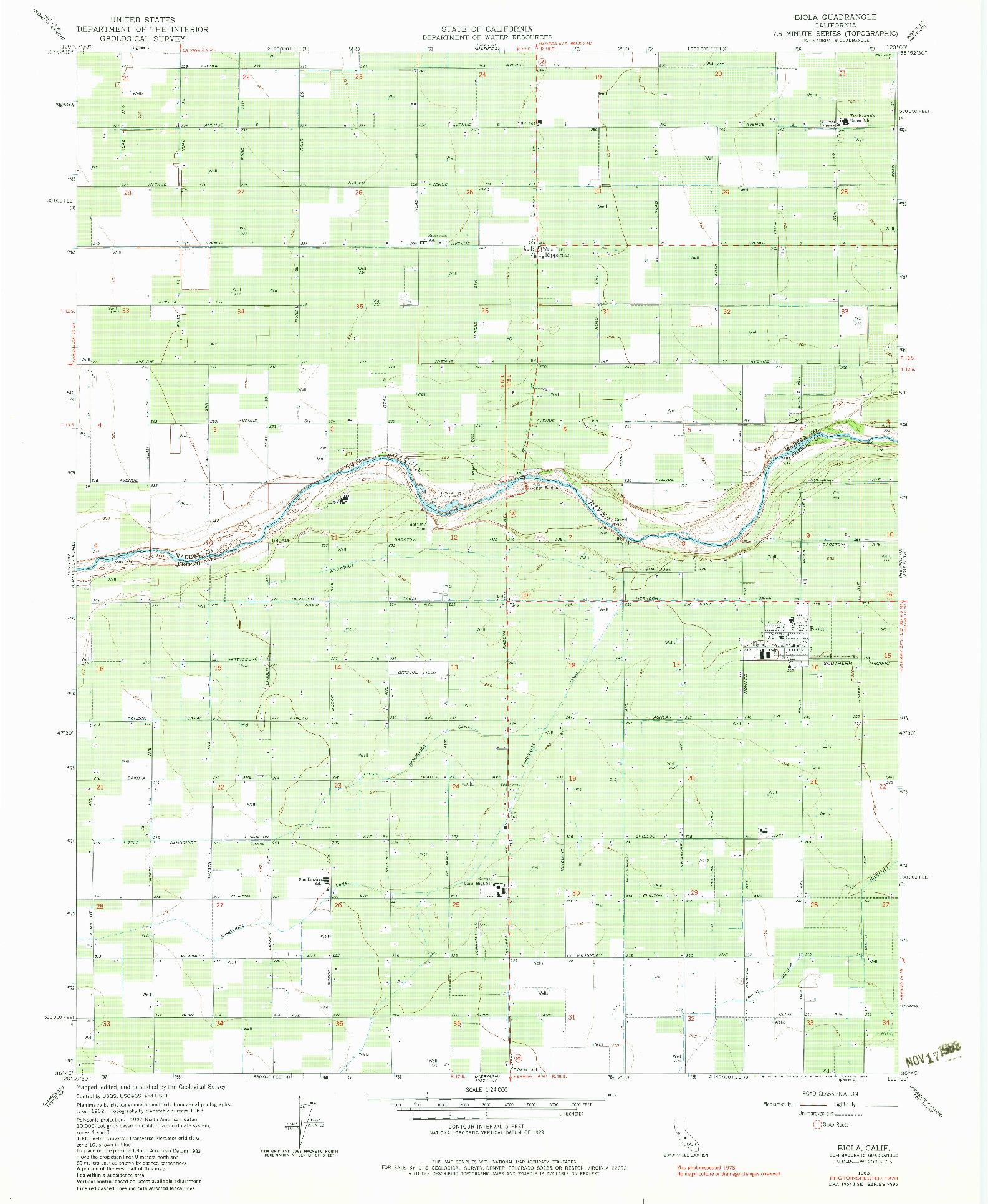 USGS 1:24000-SCALE QUADRANGLE FOR BIOLA, CA 1963
