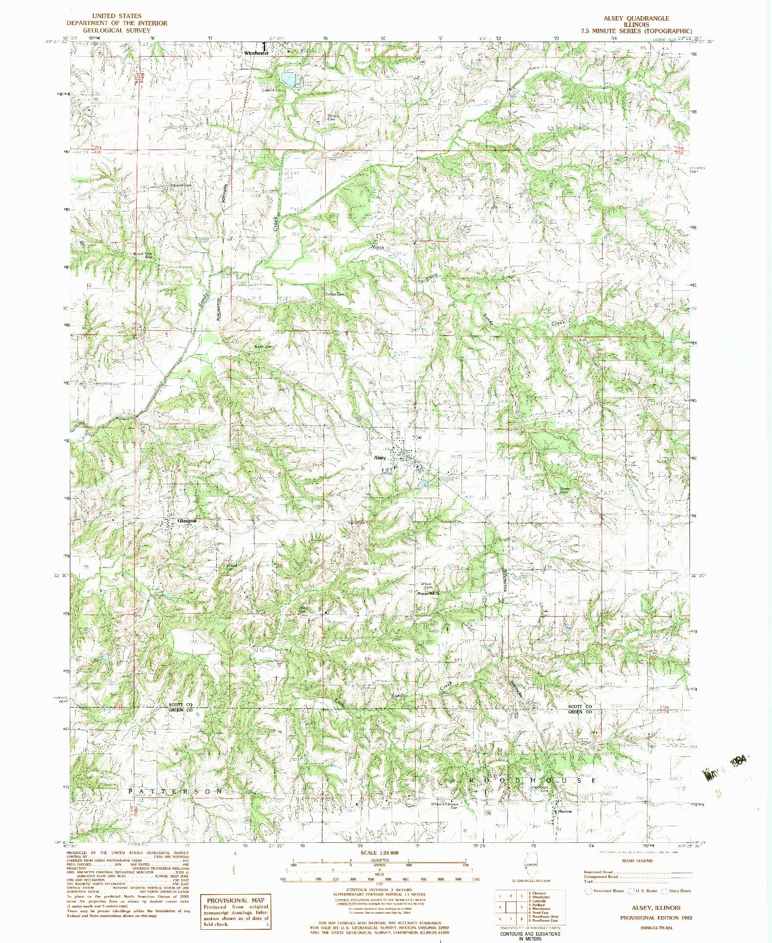 USGS 1:24000-SCALE QUADRANGLE FOR ALSEY, IL 1983