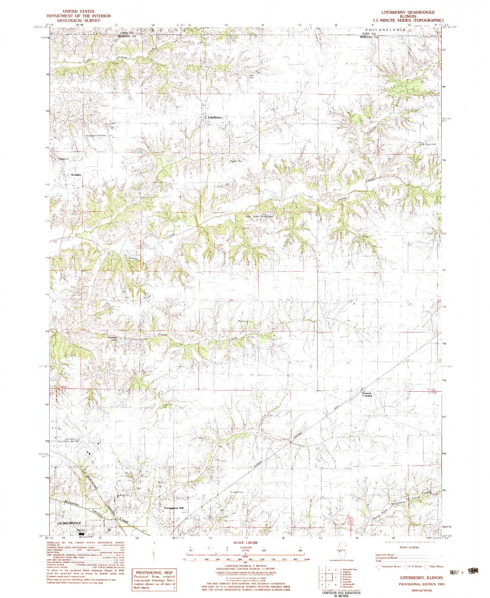 USGS 1:24000-SCALE QUADRANGLE FOR LITERBERRY, IL 1983