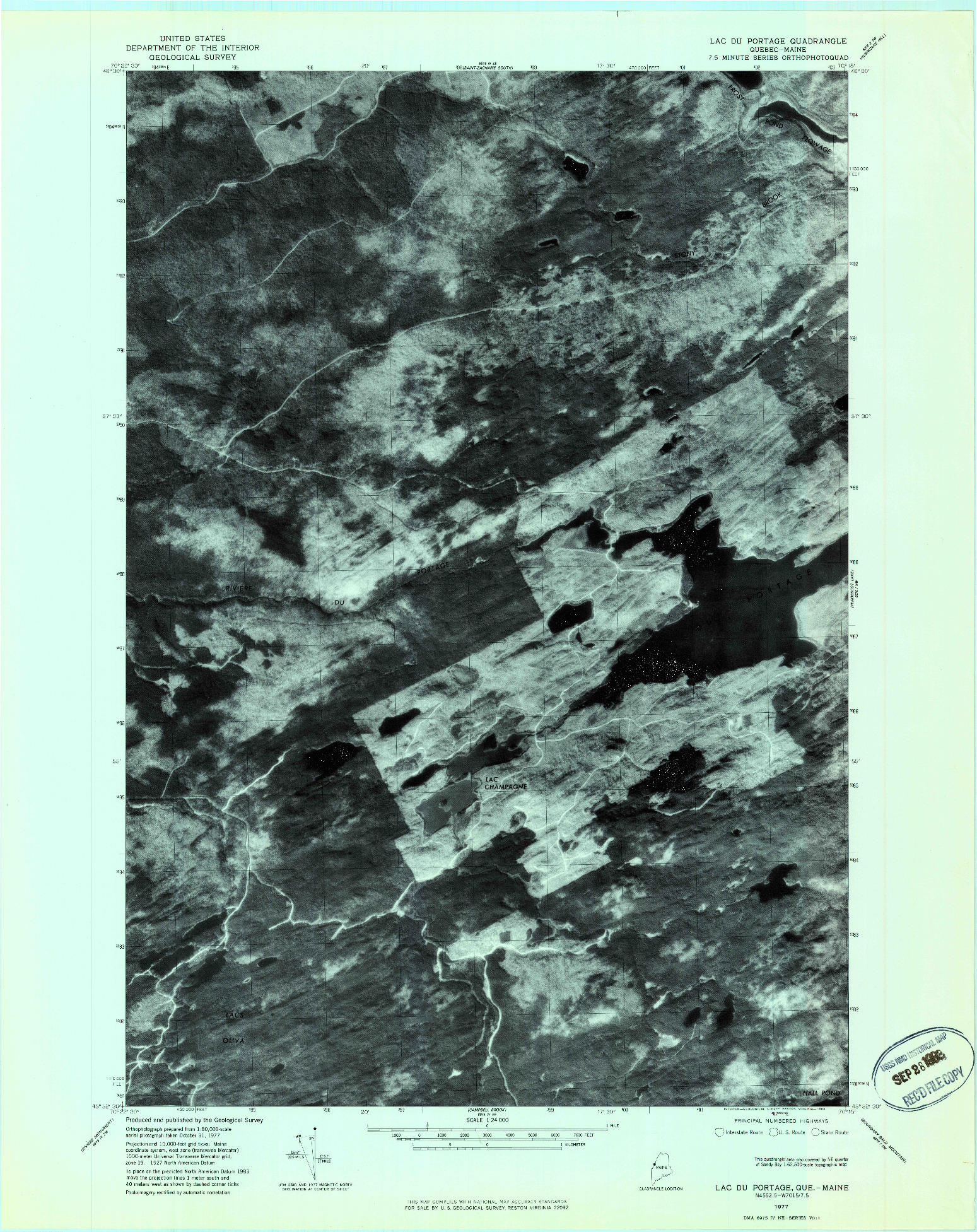 USGS 1:24000-SCALE QUADRANGLE FOR LAC DU PORTAGE, ME 1977