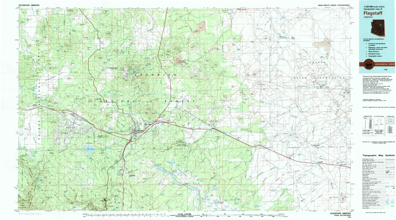 USGS 1:100000-SCALE QUADRANGLE FOR FLAGSTAFF, AZ 1982
