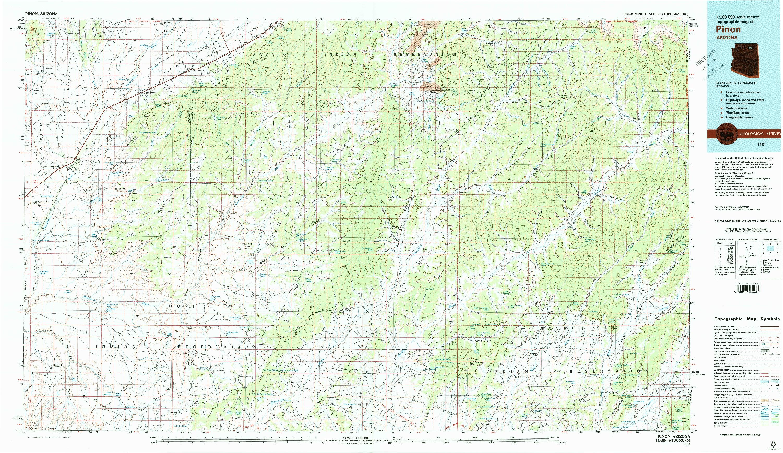 USGS 1:100000-SCALE QUADRANGLE FOR PINON, AZ 1983