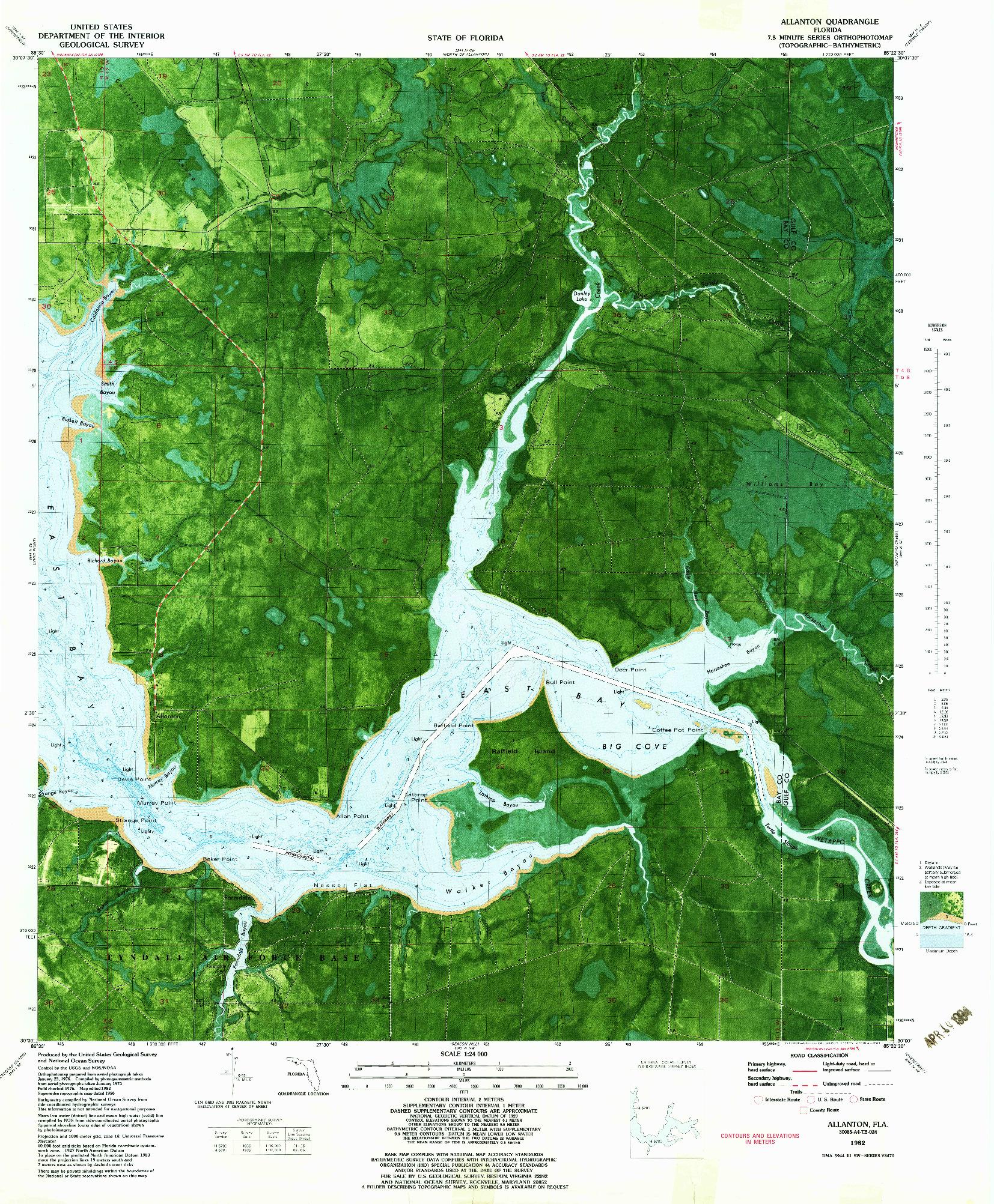 USGS 1:24000-SCALE QUADRANGLE FOR ALLANTON, FL 1982