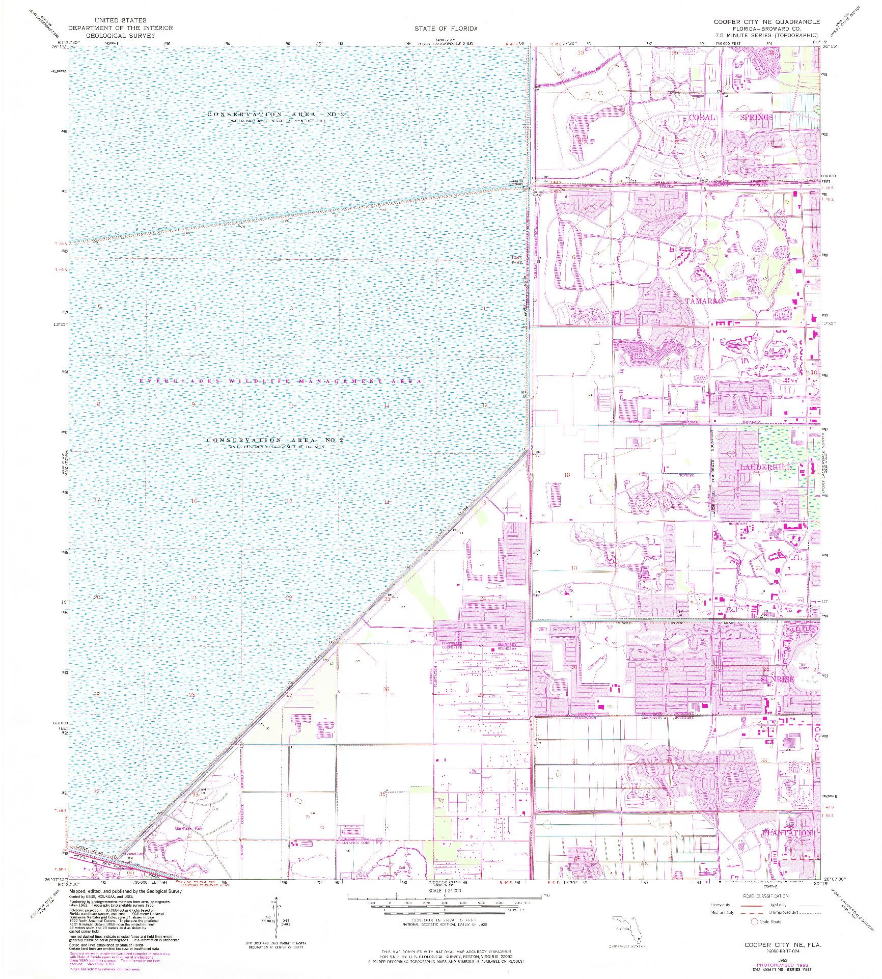 USGS 1:24000-SCALE QUADRANGLE FOR COOPER CITY NE, FL 1963