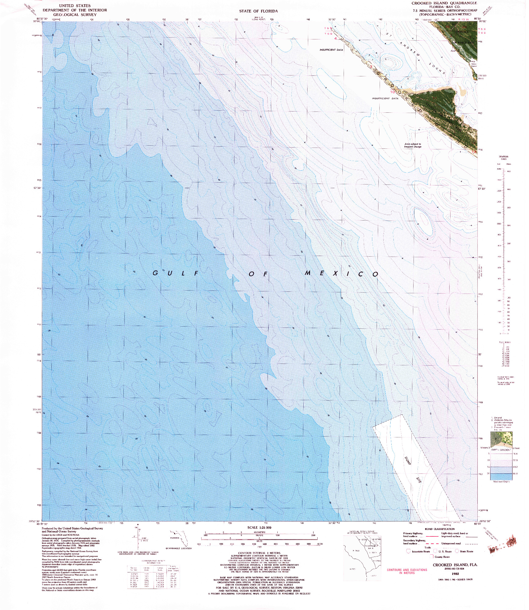 USGS 1:24000-SCALE QUADRANGLE FOR CROOKED ISLAND, FL 1982