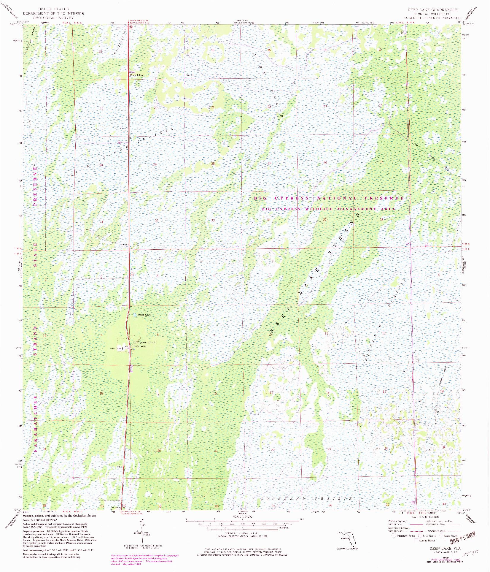 USGS 1:24000-SCALE QUADRANGLE FOR DEEP LAKE, FL 1959
