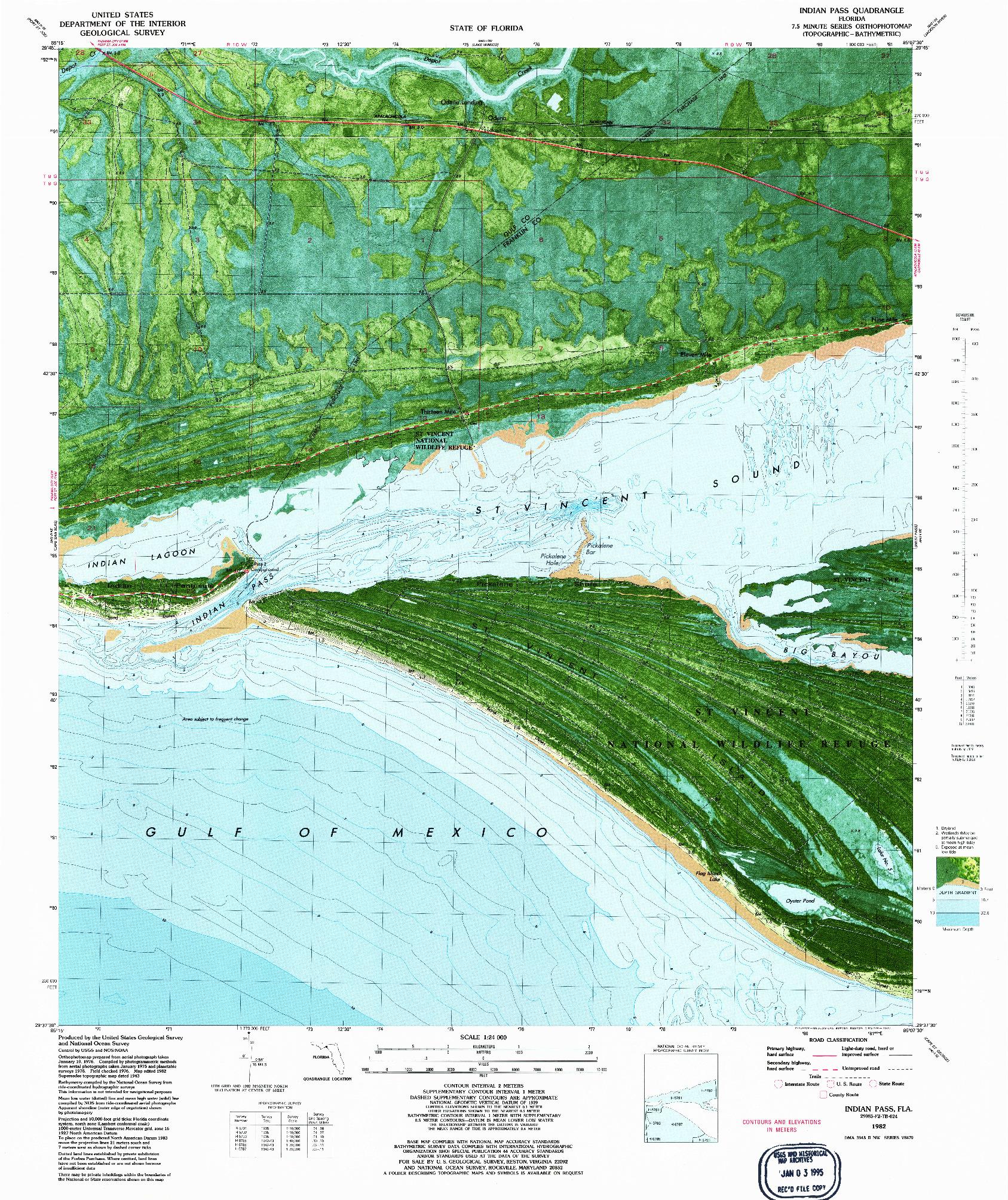 USGS 1:24000-SCALE QUADRANGLE FOR INDIAN PASS, FL 1982