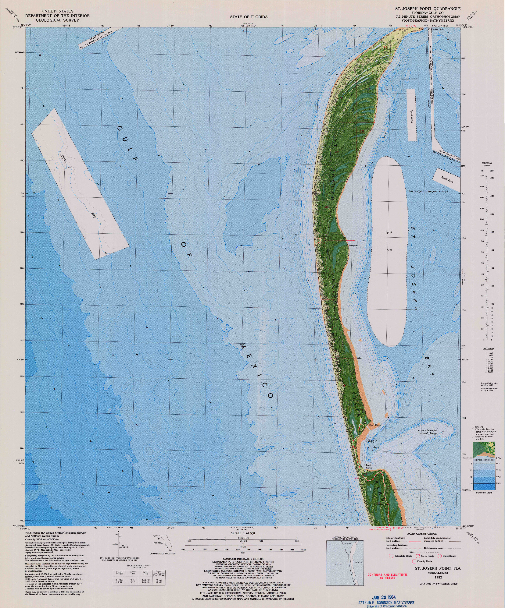 USGS 1:24000-SCALE QUADRANGLE FOR ST. JOSEPH POINT, FL 1982