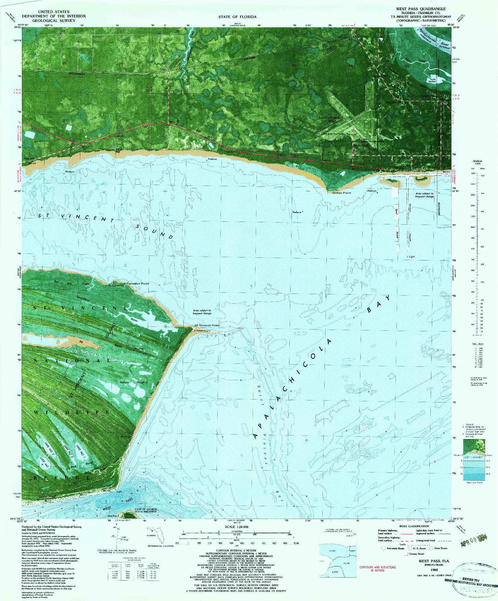 USGS 1:24000-SCALE QUADRANGLE FOR WEST PASS, FL 1982