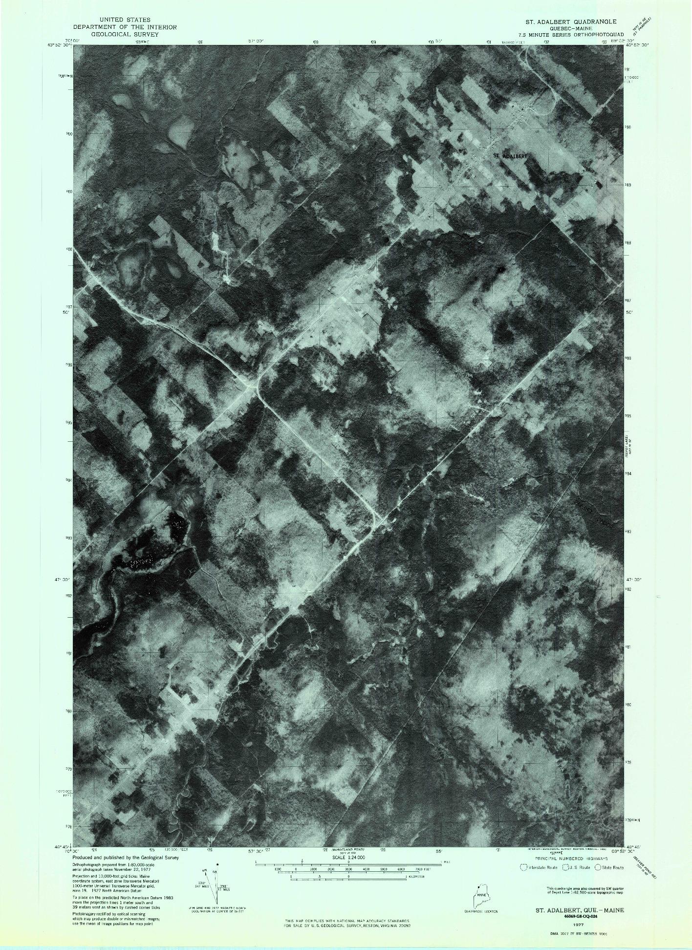 USGS 1:24000-SCALE QUADRANGLE FOR ST. ADALBERT, ME 1977