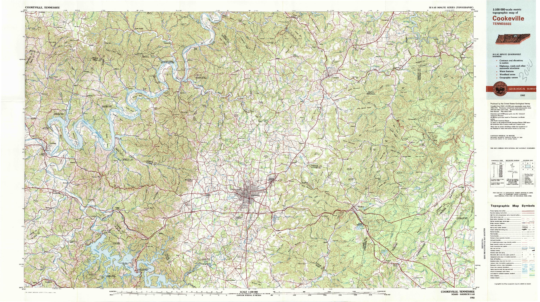 USGS 1:100000-SCALE QUADRANGLE FOR COOKEVILLE, TN 1982
