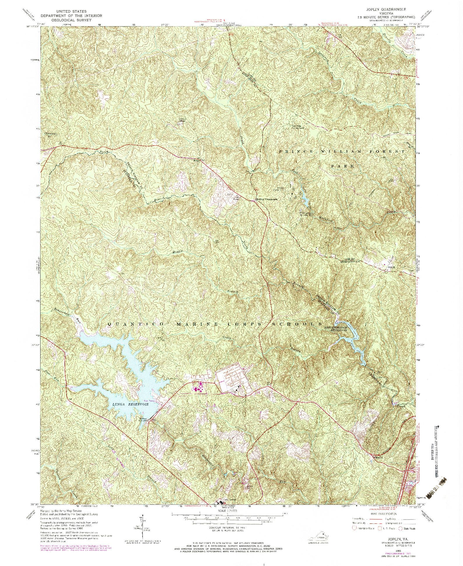USGS 1:24000-SCALE QUADRANGLE FOR JOPLIN, VA 1966