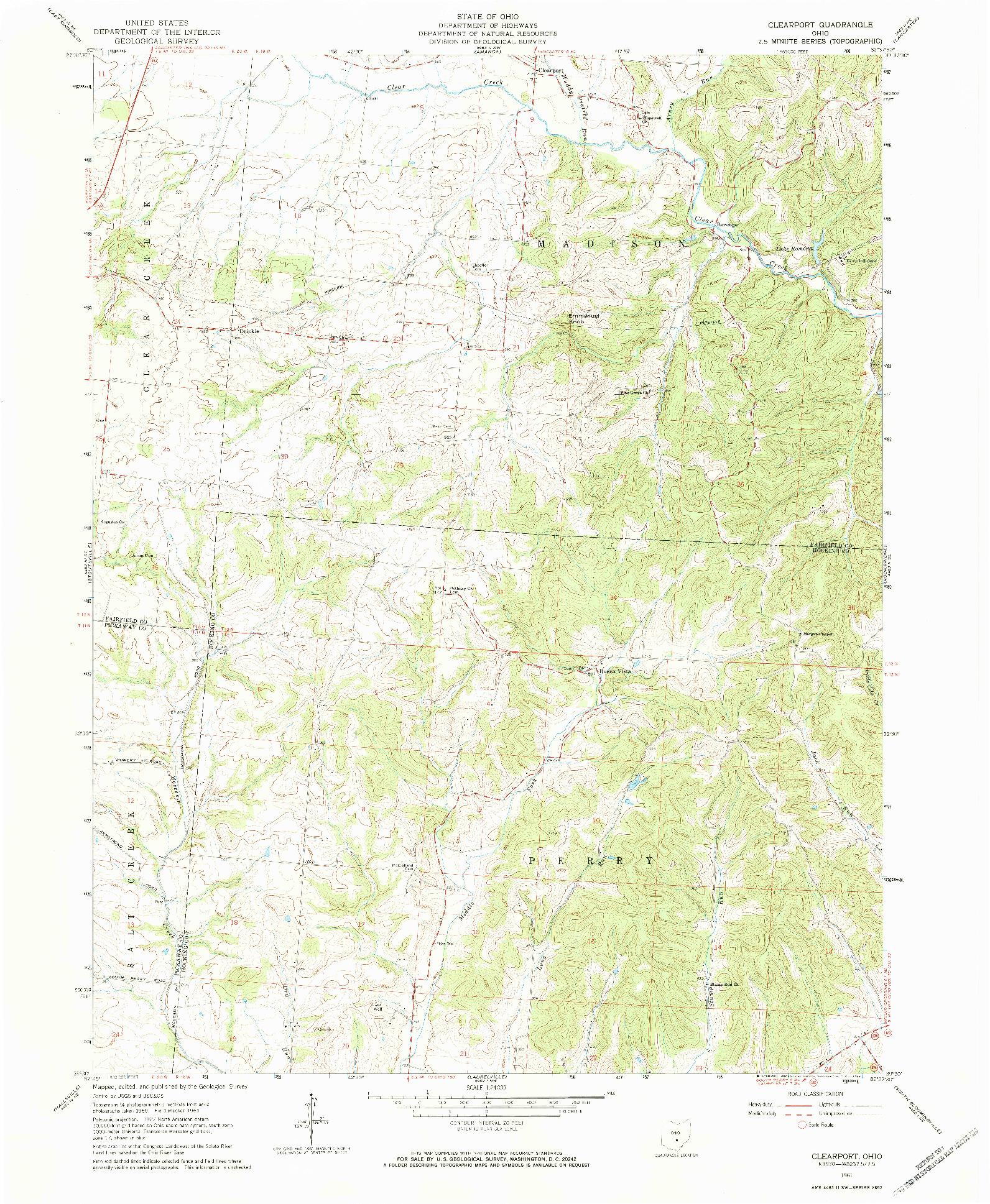 USGS 1:24000-SCALE QUADRANGLE FOR CLEARPORT, OH 1961