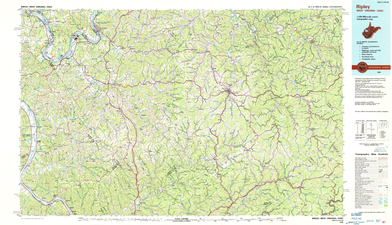 USGS 1:100000-SCALE QUADRANGLE FOR RIPLEY, WV 1984
