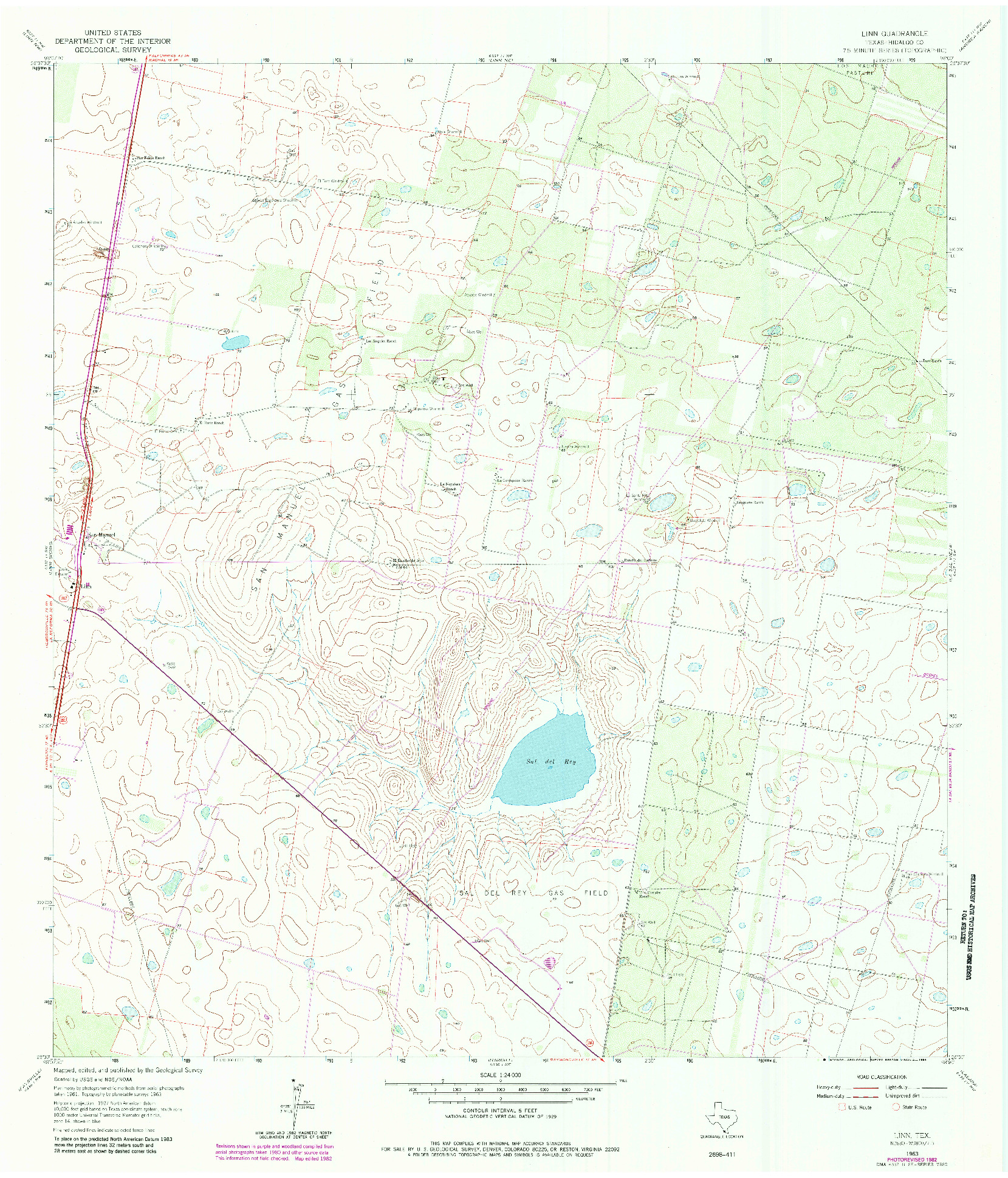 USGS 1:24000-SCALE QUADRANGLE FOR LINN, TX 1963