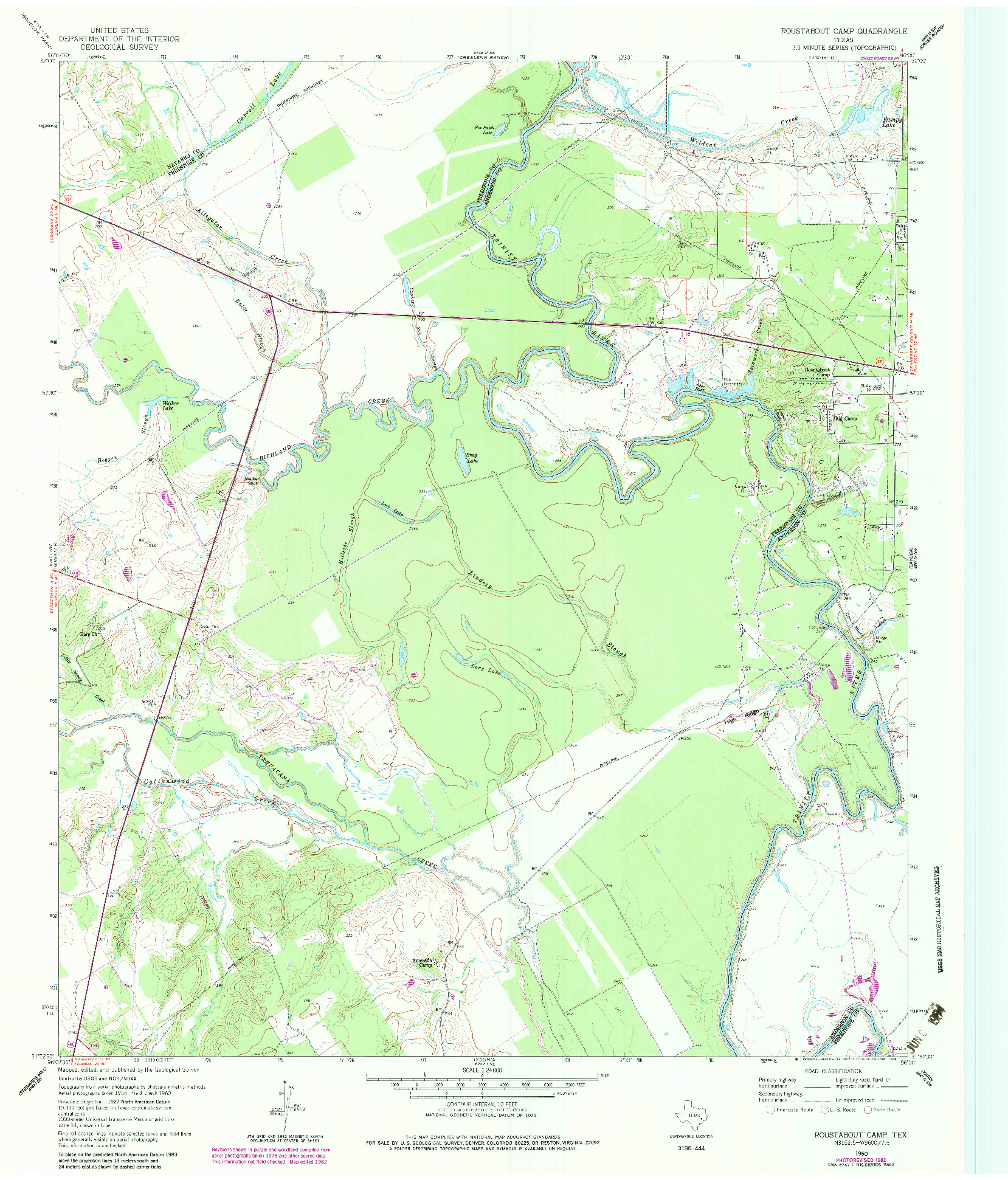USGS 1:24000-SCALE QUADRANGLE FOR ROUSTABOUT CAMP, TX 1960