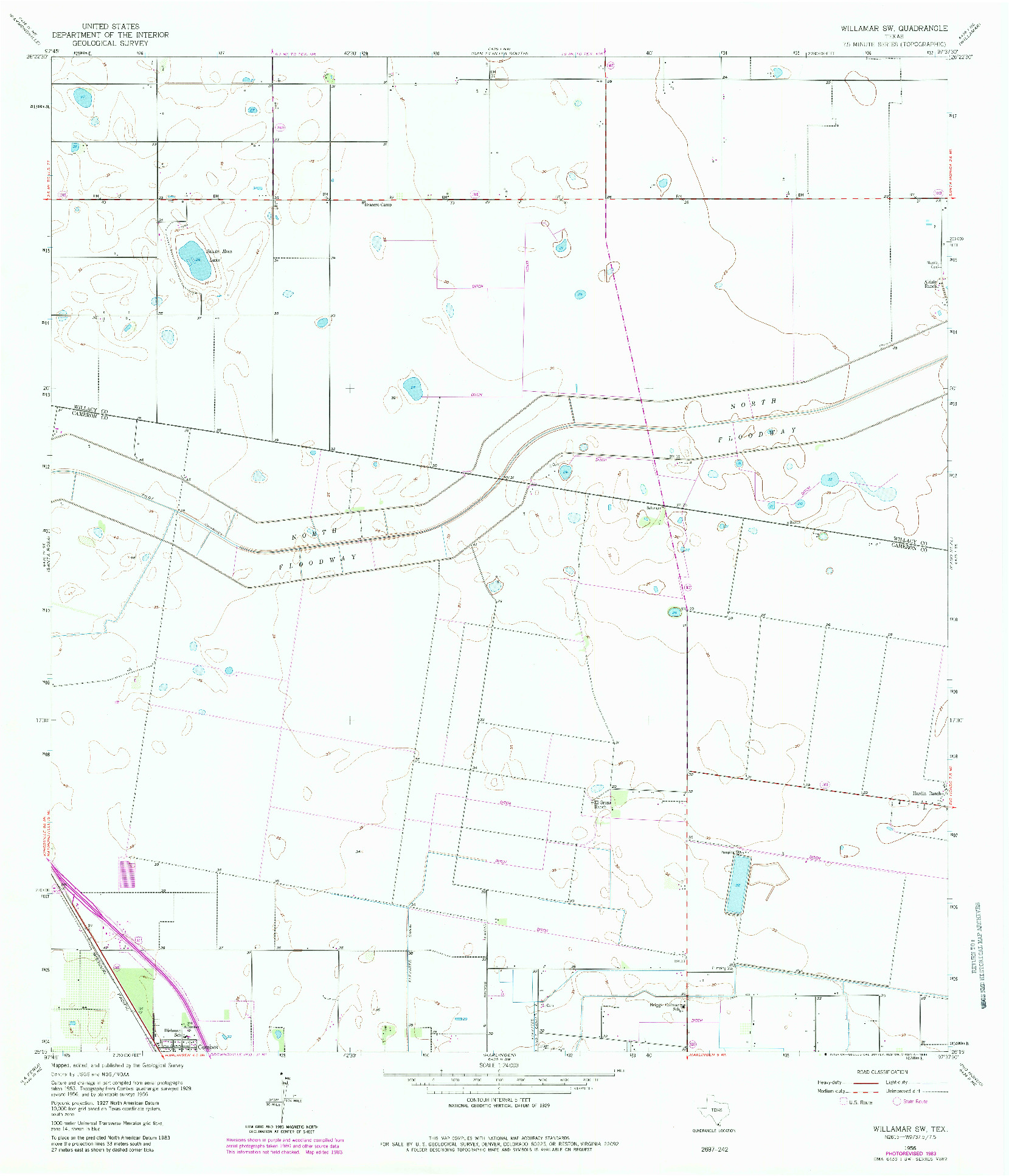USGS 1:24000-SCALE QUADRANGLE FOR WILLAMAR SW, TX 1956