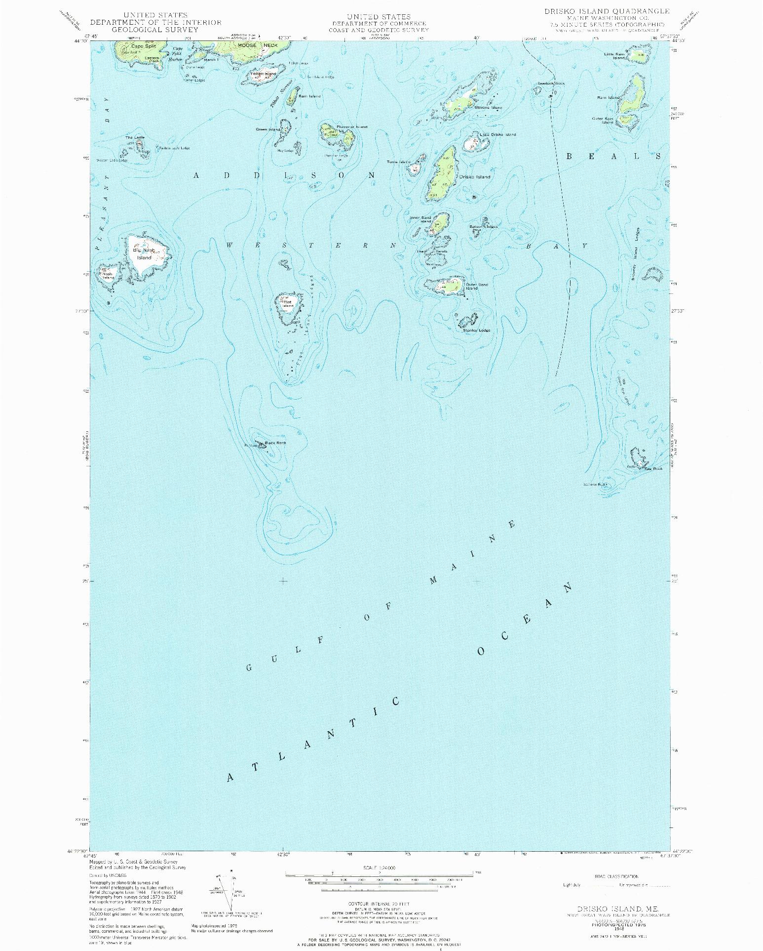 USGS 1:24000-SCALE QUADRANGLE FOR DRISKO ISLAND, ME 1948
