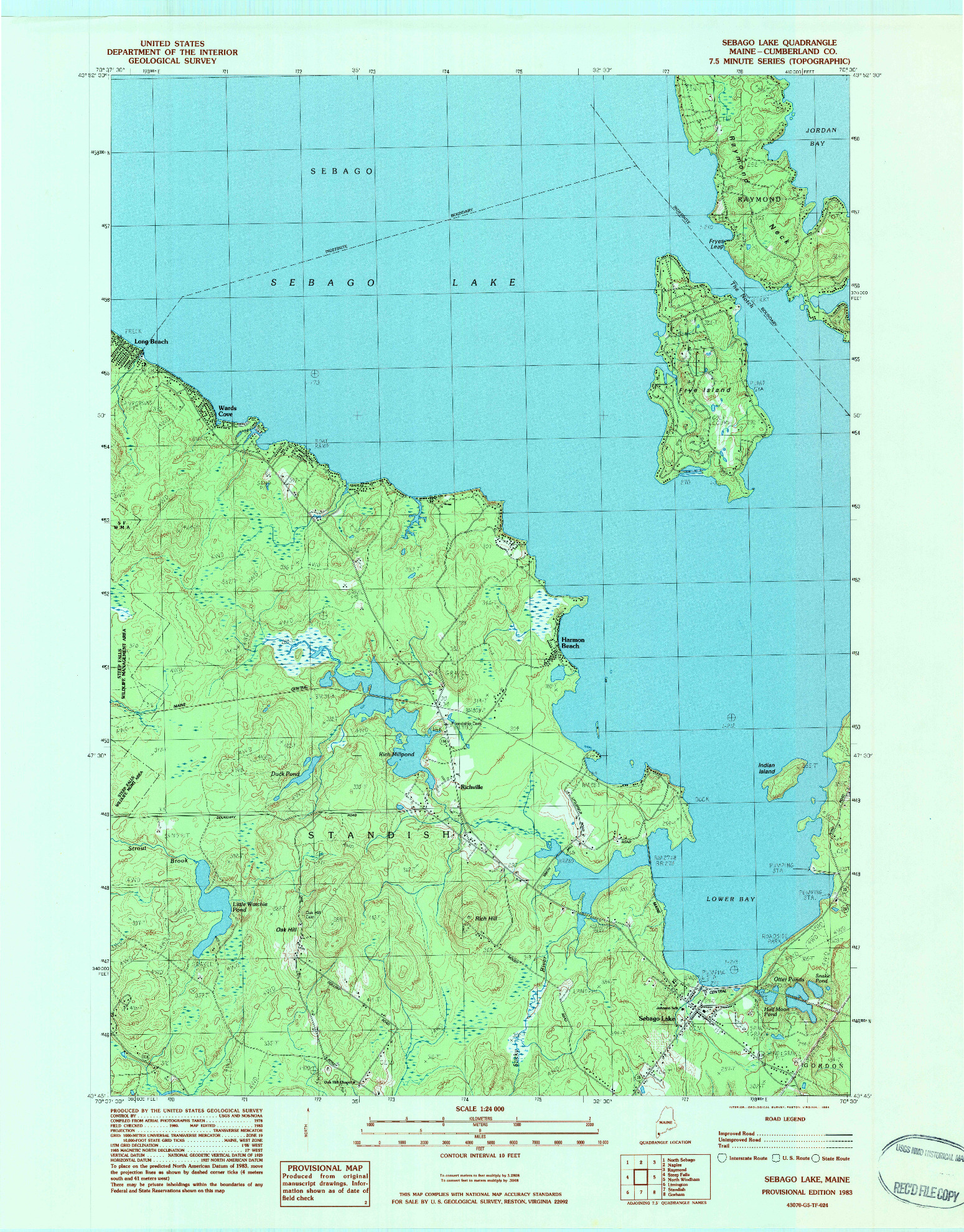 USGS 1:24000-SCALE QUADRANGLE FOR SEBAGO LAKE, ME 1983 on surry mountain lake map, pittsfield lake map, mexico lake map, bedford lake map, flagstaff lake map, mooselookmeguntic lake map, china lake map, jaffrey lake map, sebasticook lake map, little sebago map, maine map, massachusetts map, lake easton state park campground map, sperry lake map, sebago state park map, diamond valley lake map, point sebago map, lake wallenpaupack map, clarks lake map, gardner lake map,